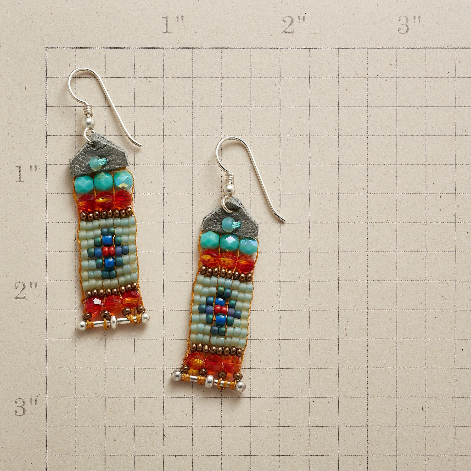 BANNER DAY BEADED EARRINGS: View 2