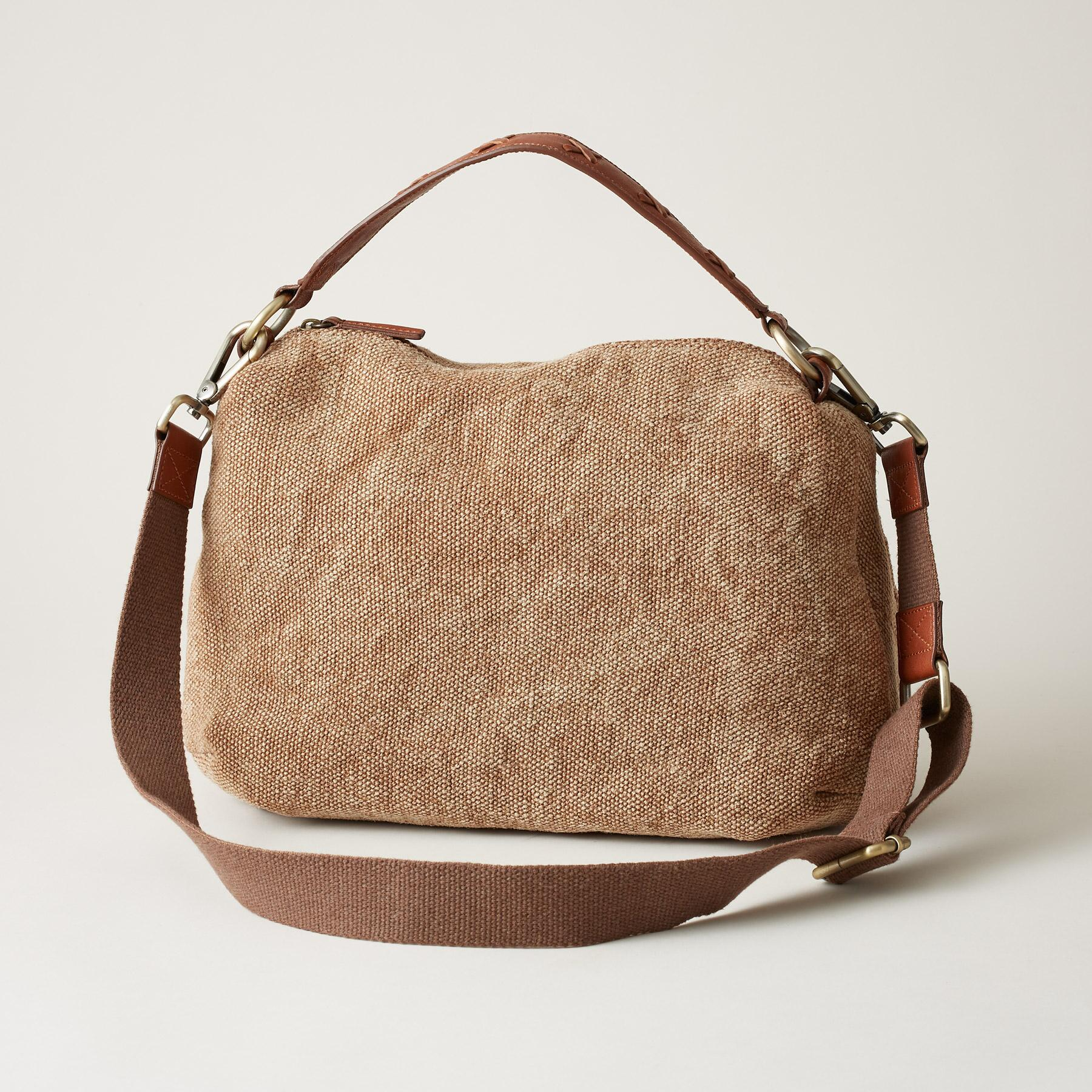 STITCHED LINEN BAG: View 1