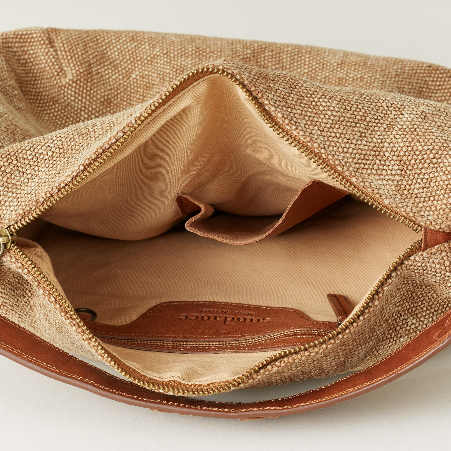 STITCHED LINEN BAG: View 3