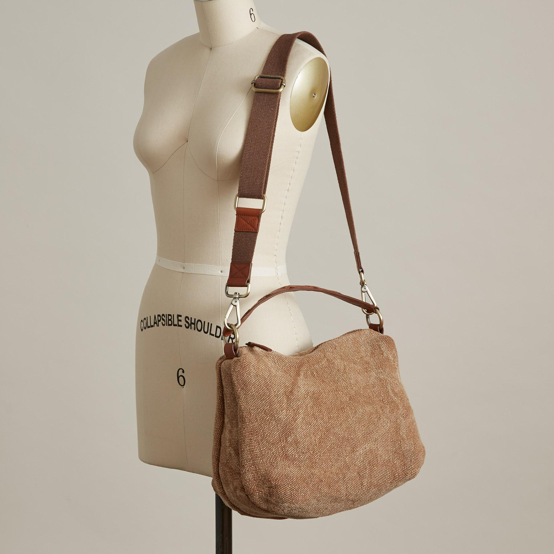 STITCHED LINEN BAG: View 4