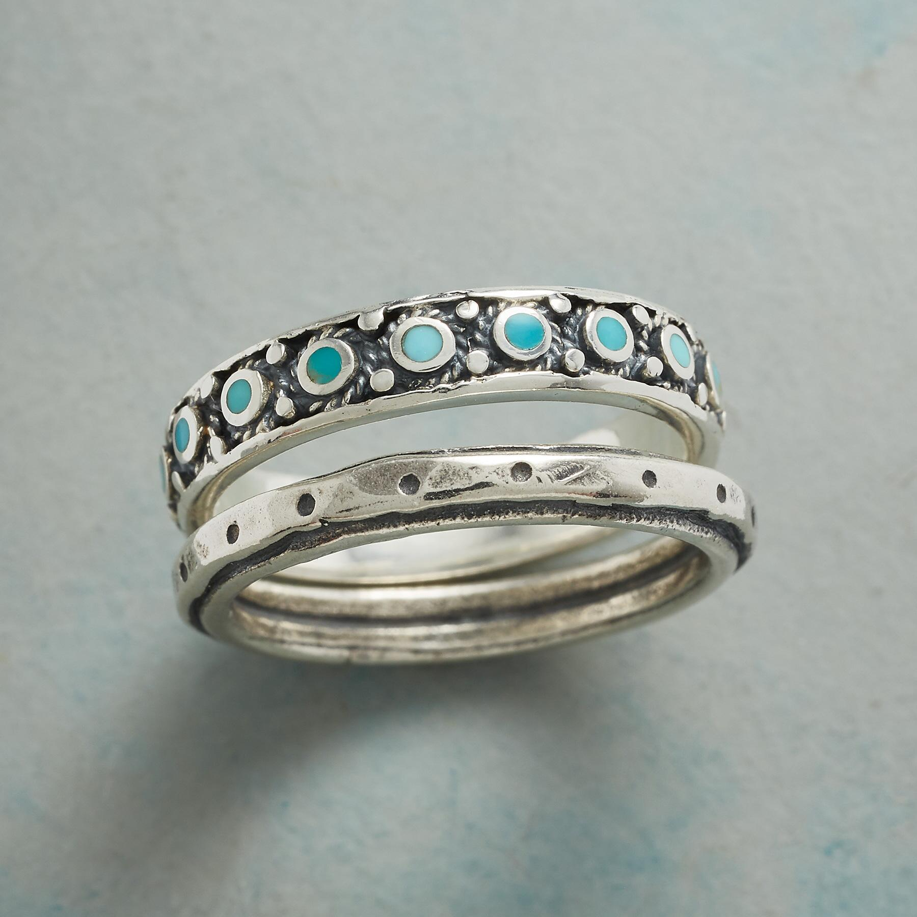 WALK THE LINE RINGS, SET OF 2: View 1