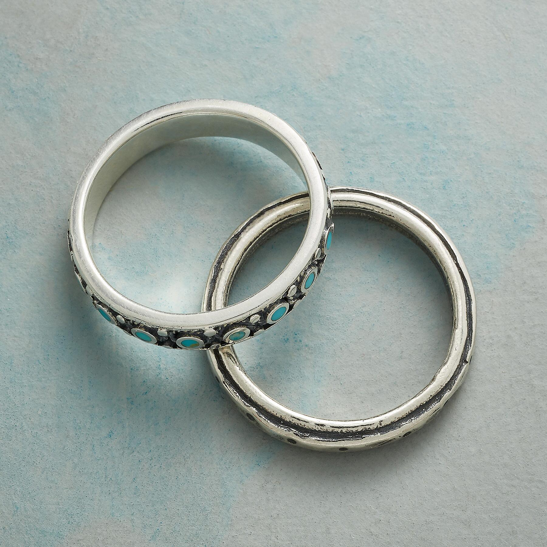 WALK THE LINE RINGS, SET OF 2: View 2