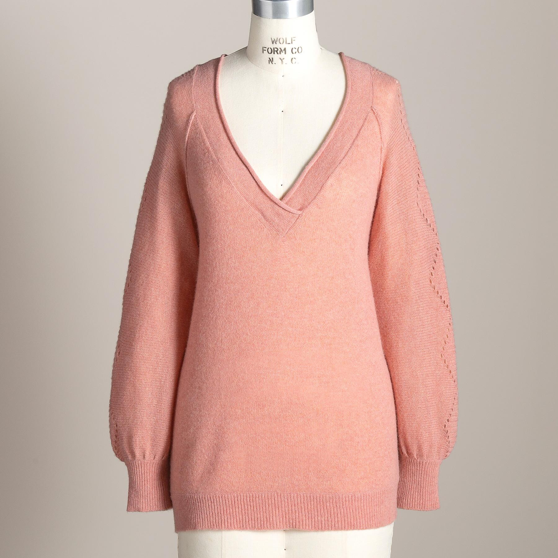 WHISPER CASHMERE SWEATER: View 1