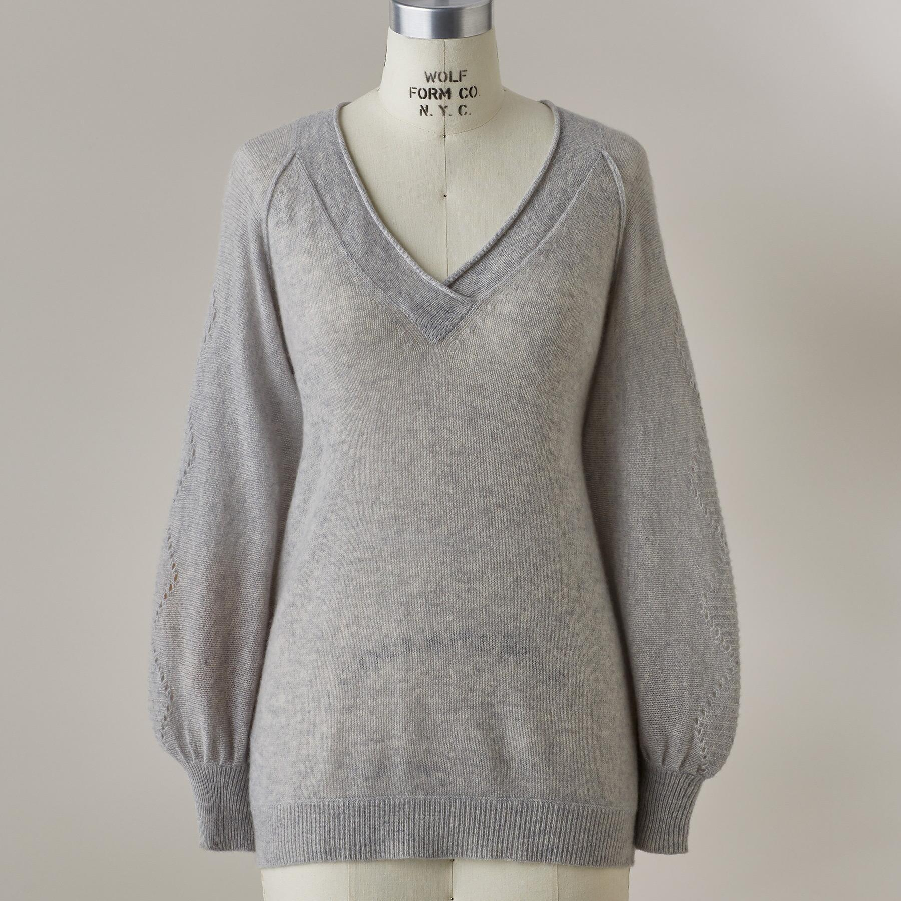 WHISPER CASHMERE SWEATER: View 2