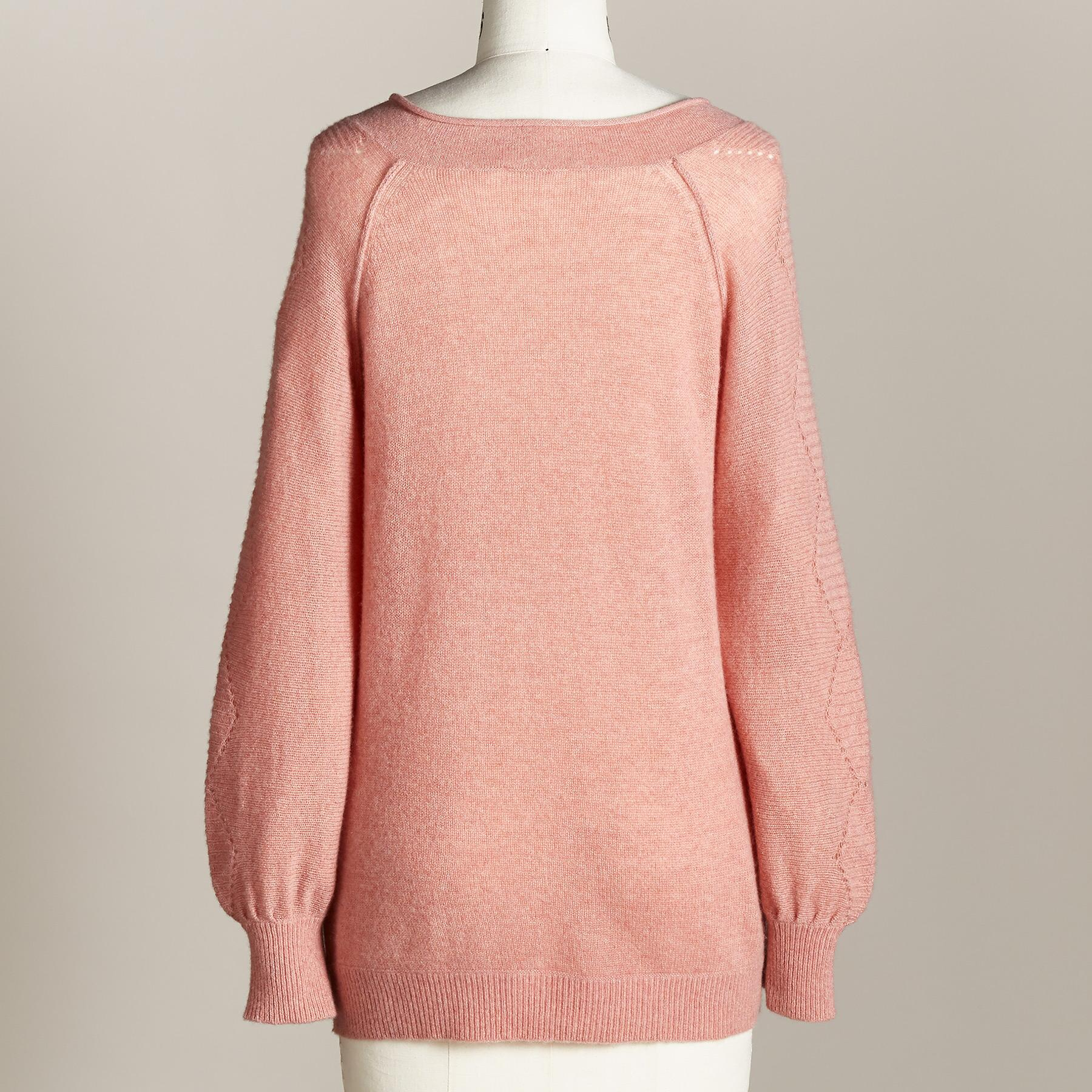 WHISPER CASHMERE SWEATER: View 3