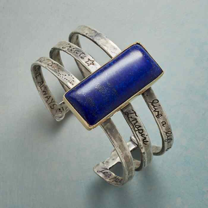 FULL OF LOVE LAPIS CUFF