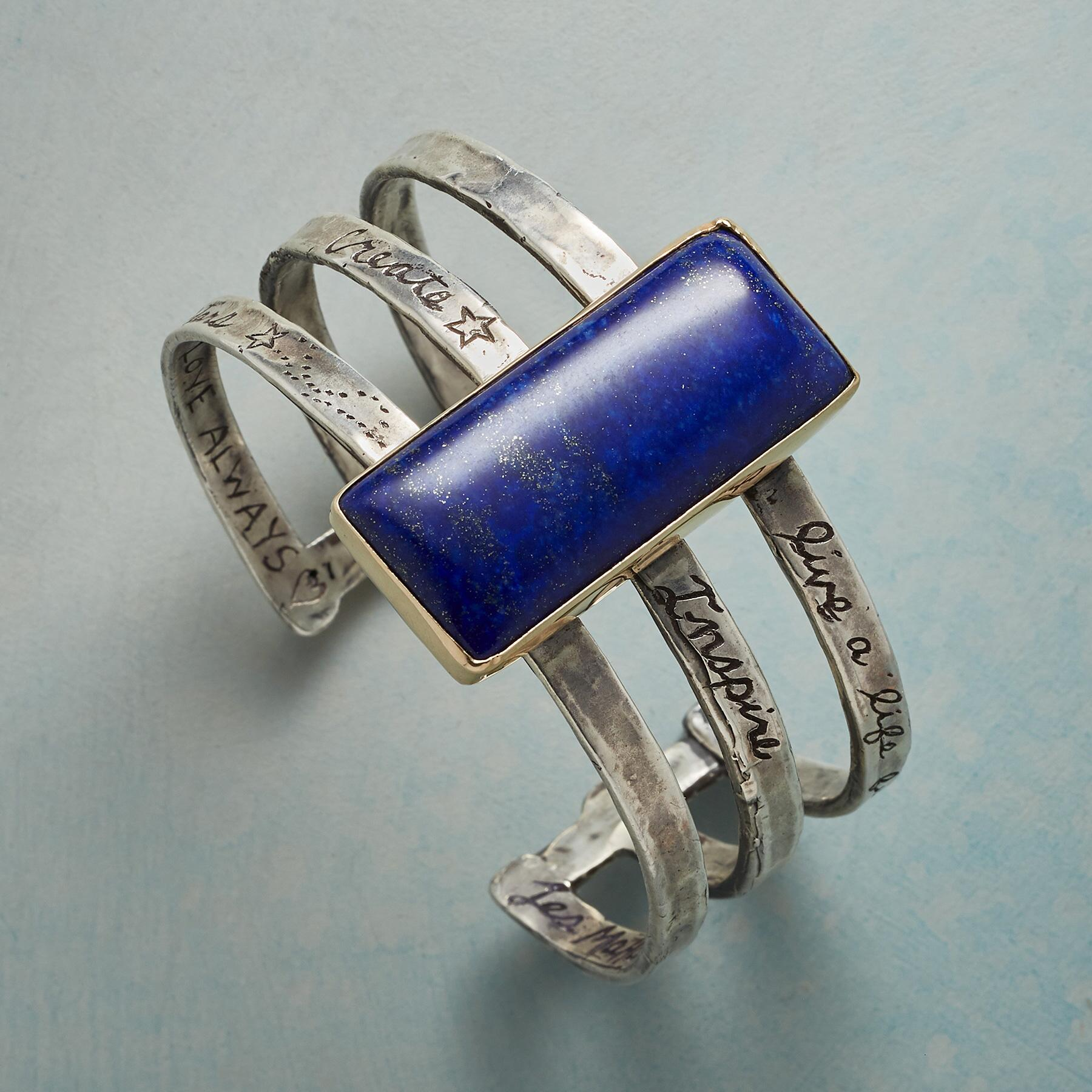 FULL OF LOVE LAPIS CUFF: View 1