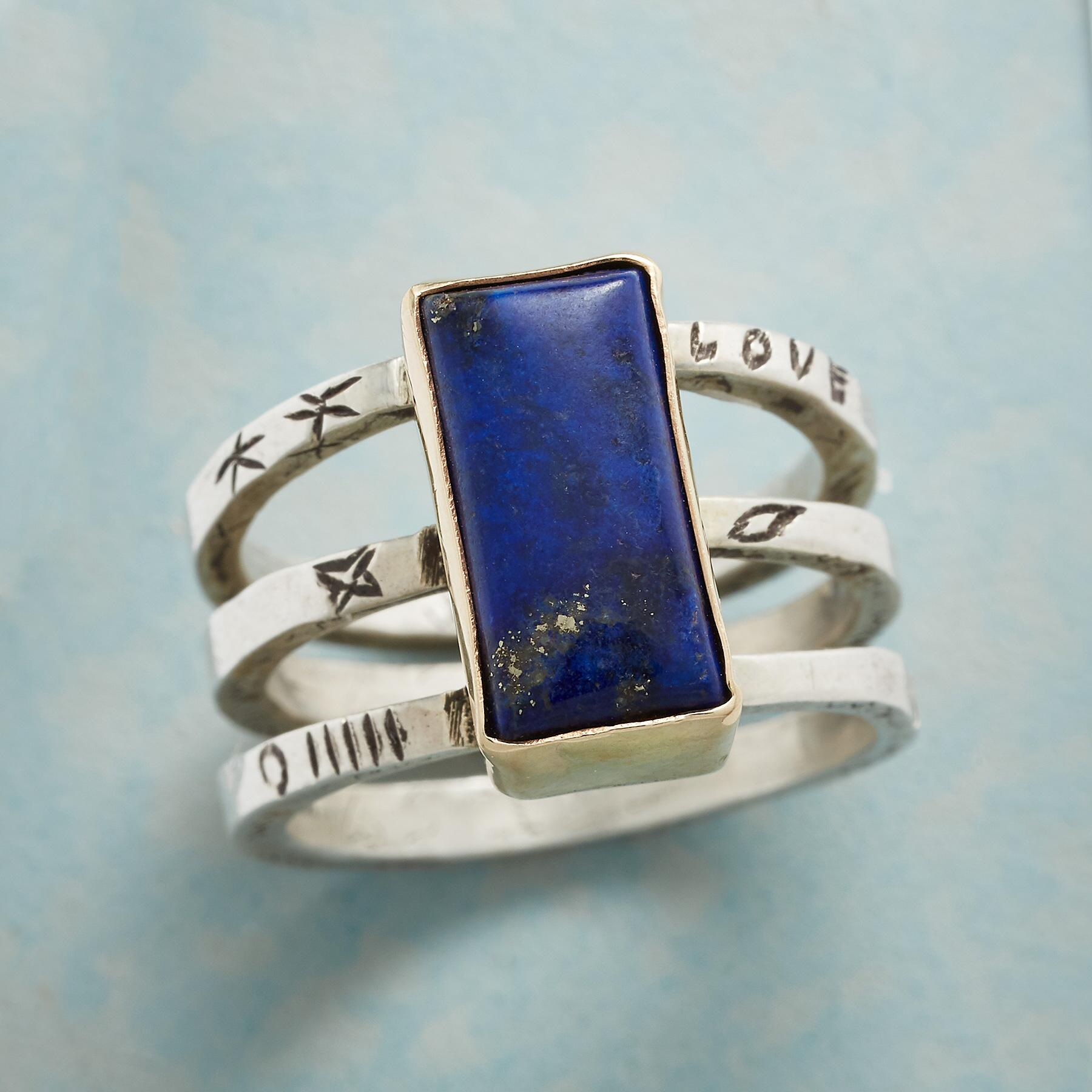 FULL OF LOVE LAPIS RING: View 1
