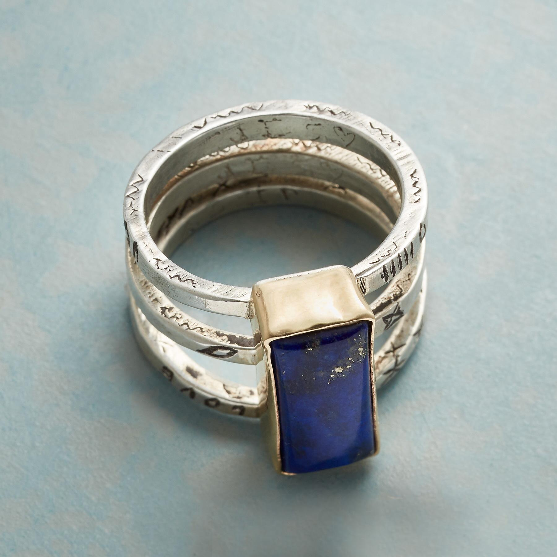 FULL OF LOVE LAPIS RING: View 2
