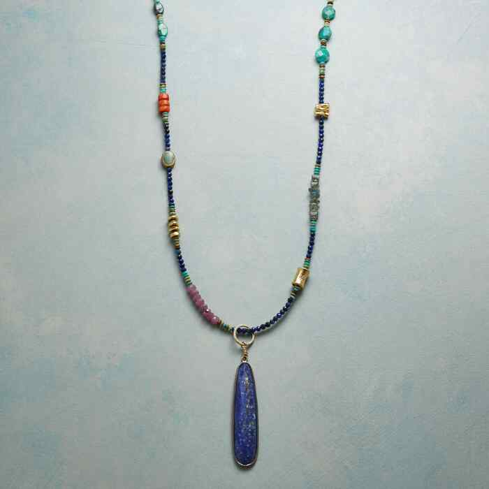 CLEOPATRA LAPIS NECKLACE