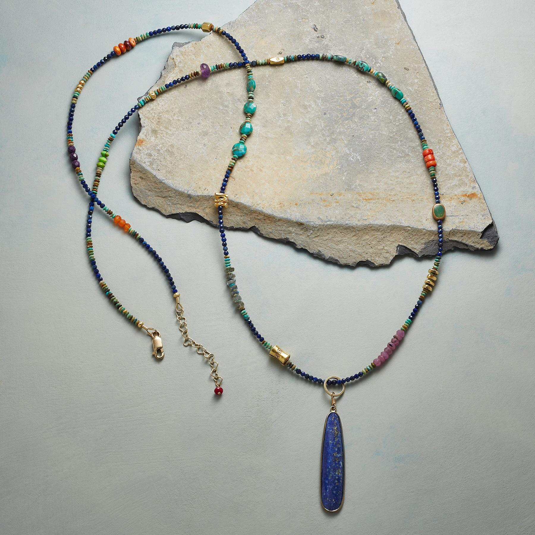 CLEOPATRA LAPIS NECKLACE: View 2