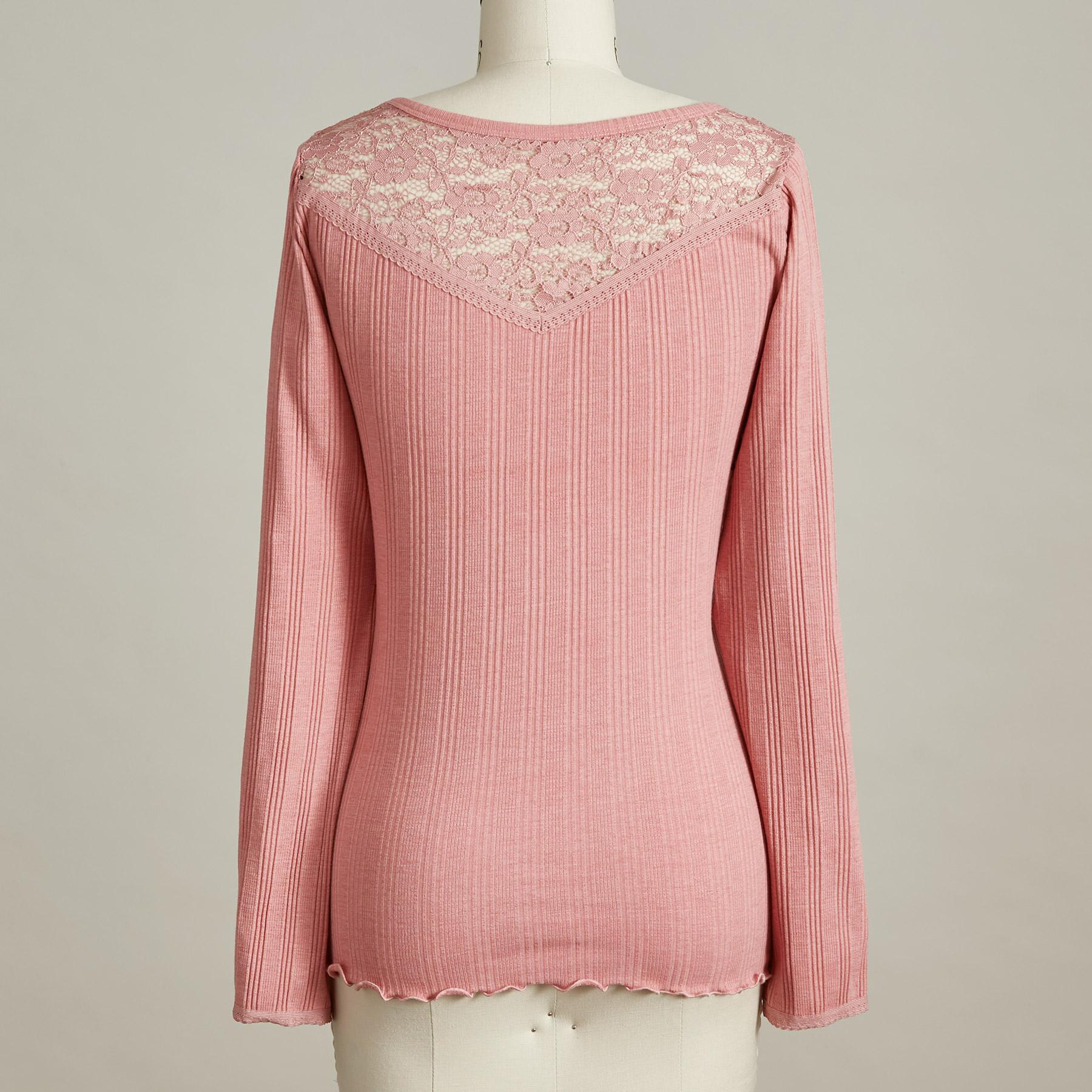 BRIDGETTE LACE TEE: View 4