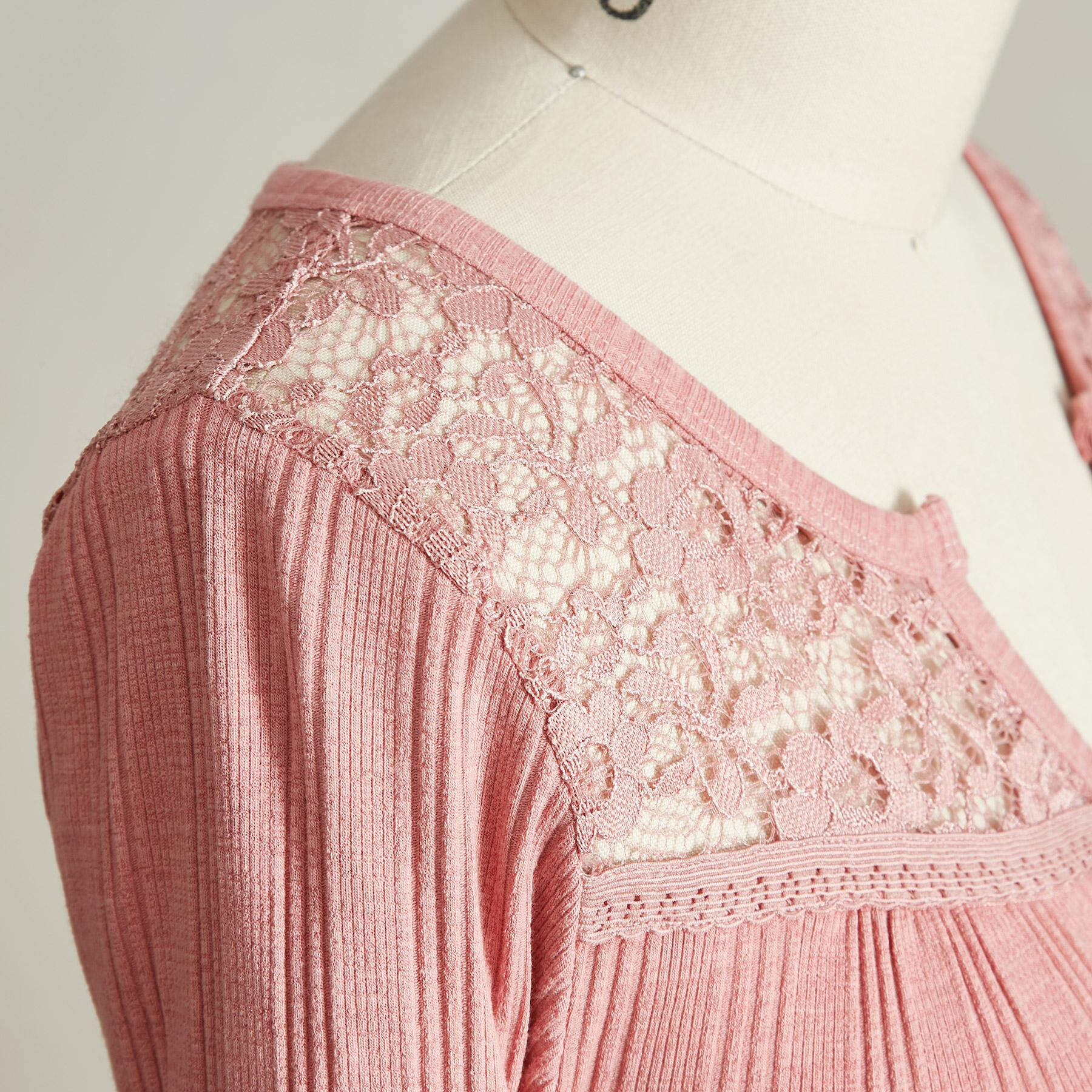 BRIDGETTE LACE TEE: View 5