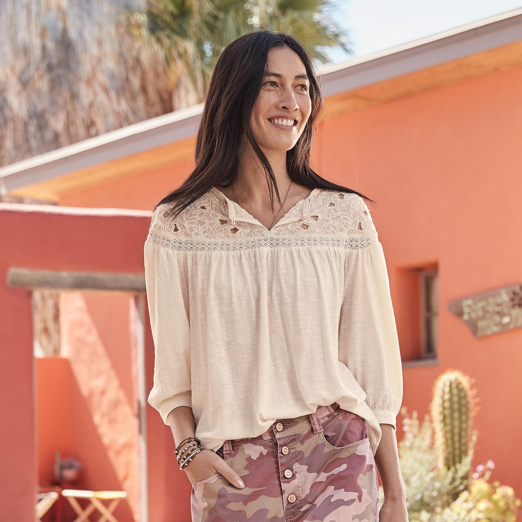 CELESTE EMBROIDERED TOP: View 1