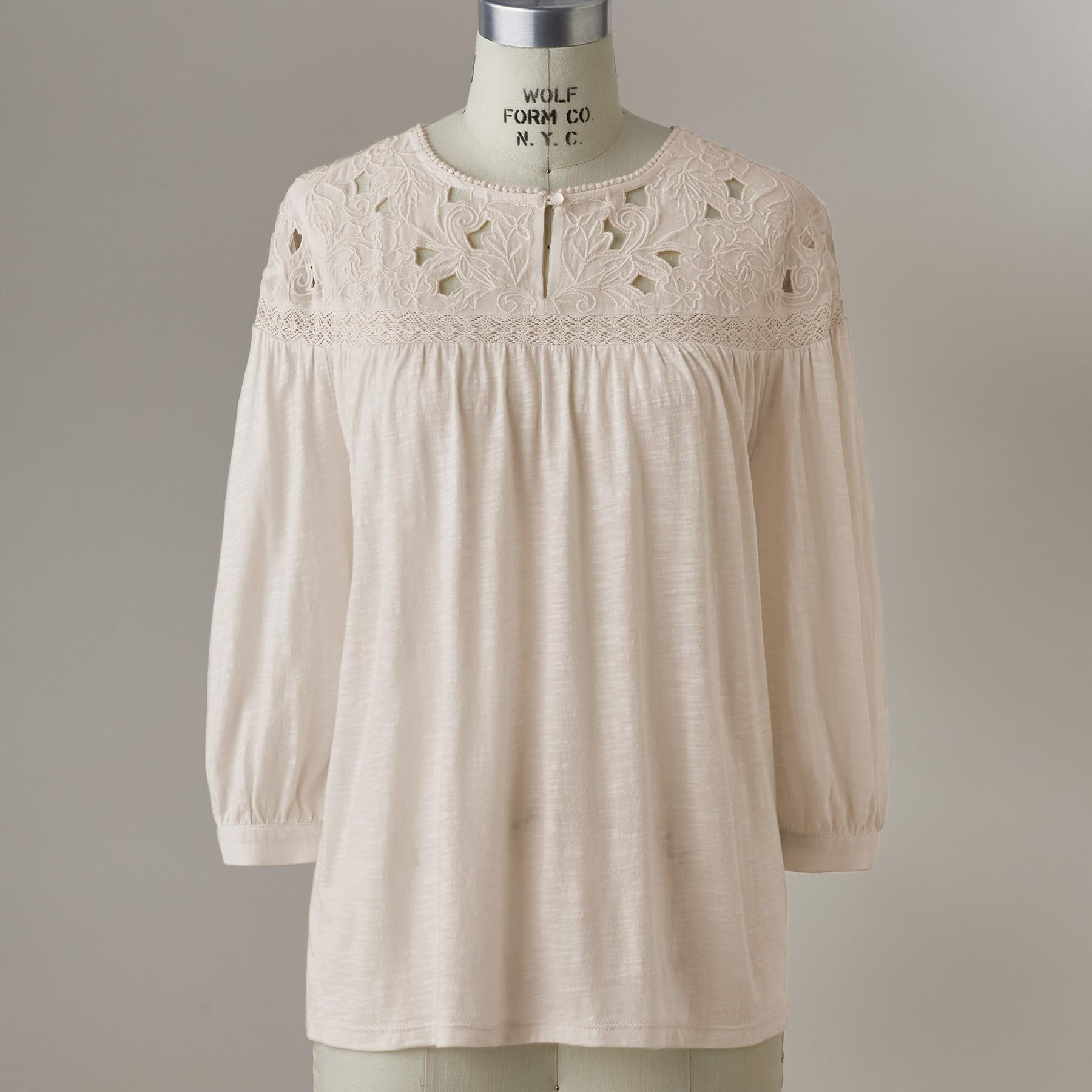 CELESTE EMBROIDERED TOP: View 2