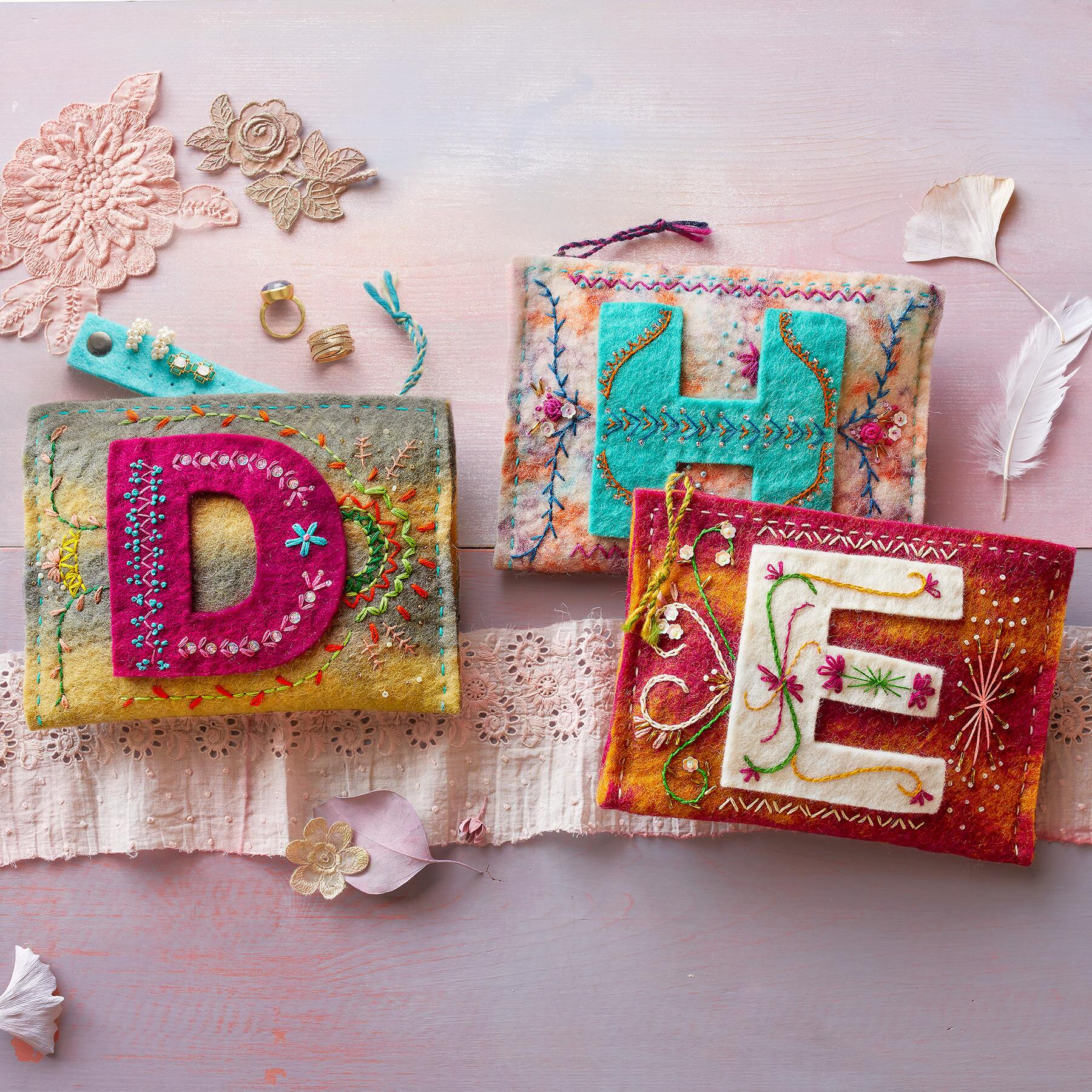 BY THE LETTER JEWELRY POUCHES: View 1