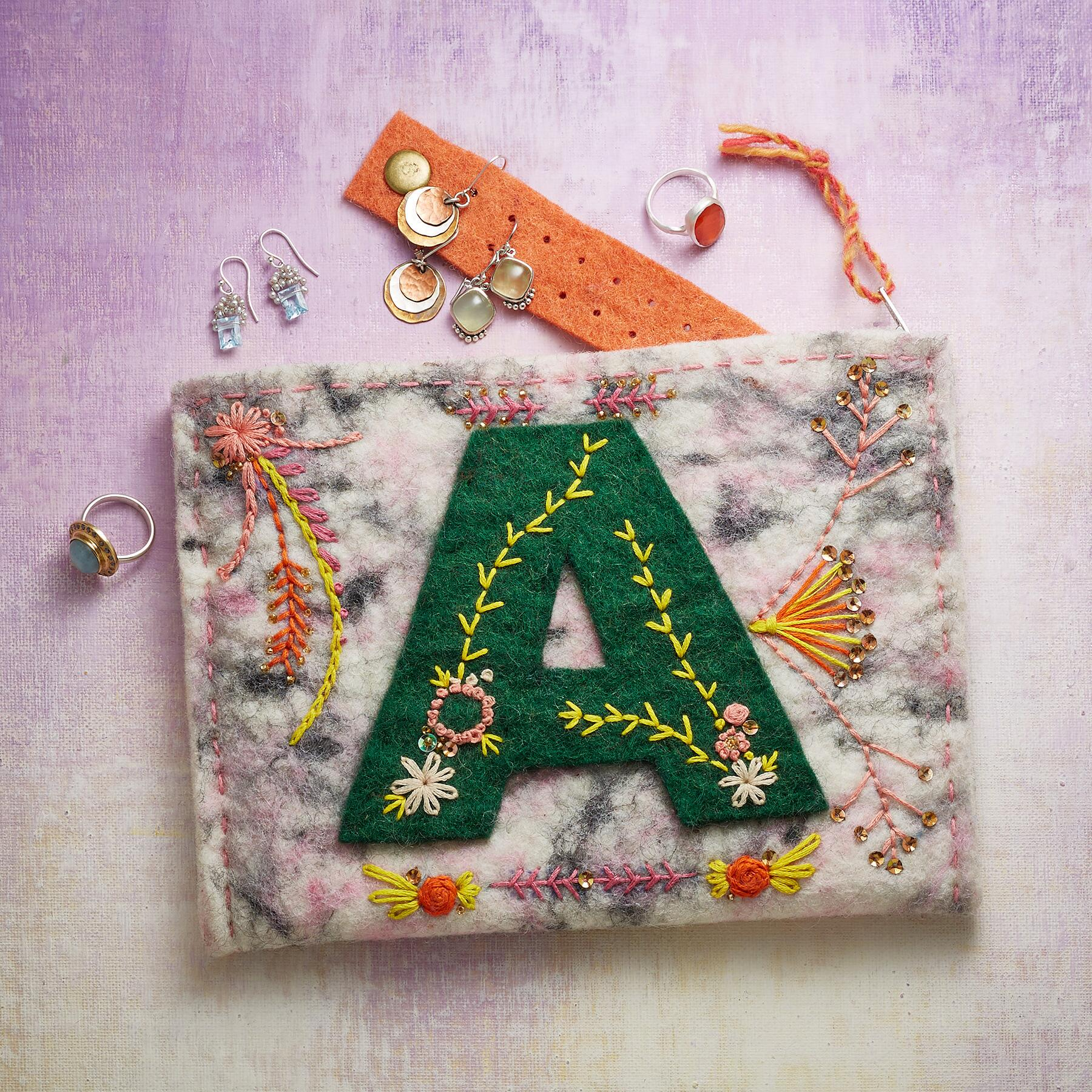 BY THE LETTER JEWELRY POUCHES: View 2