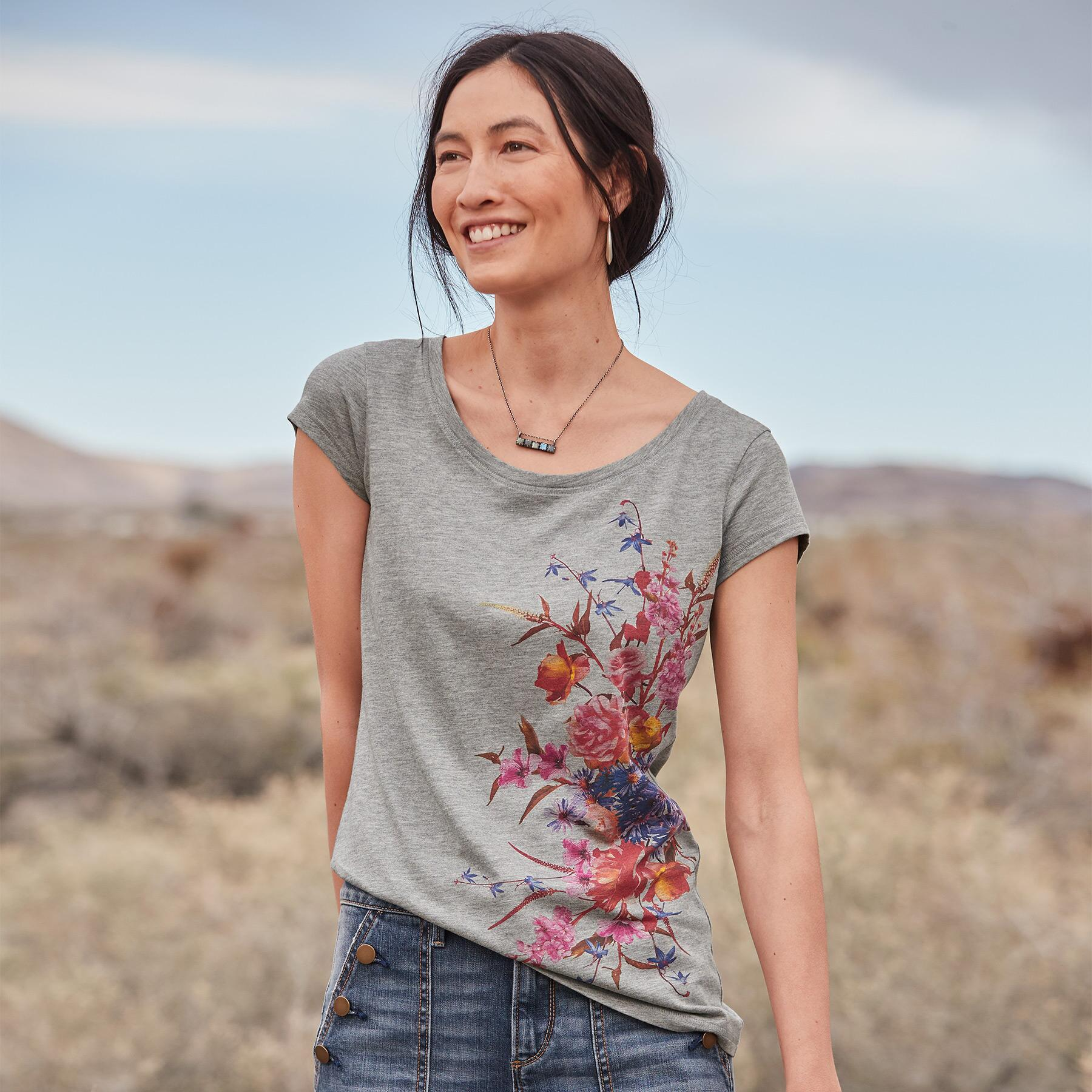 SUNSET BLOOMS TEE: View 2