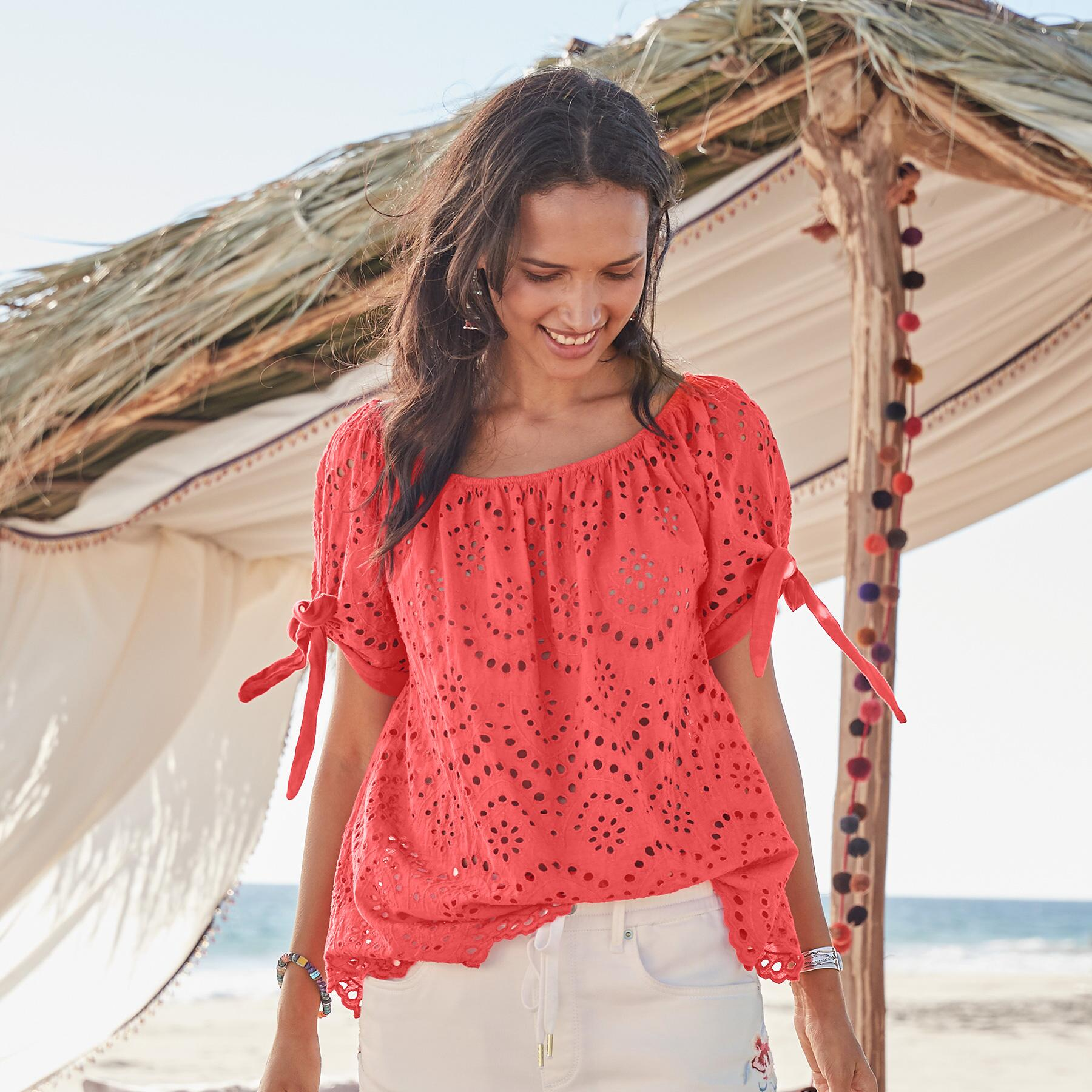 FIERY EYELET TOP: View 2