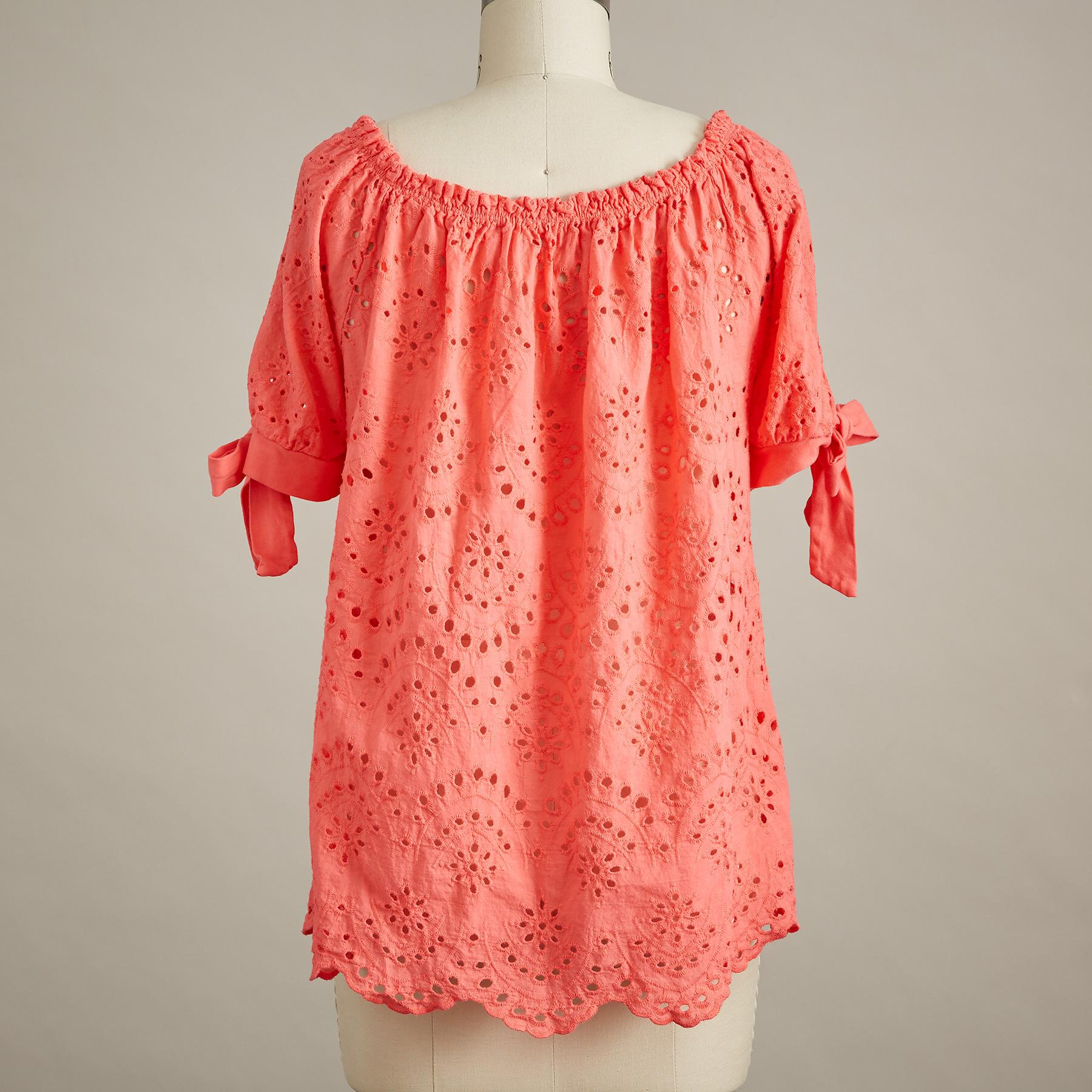 FIERY EYELET TOP: View 3