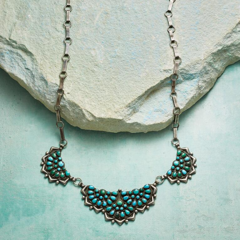 1950S ZUNI TURQUOISE NECKLACE