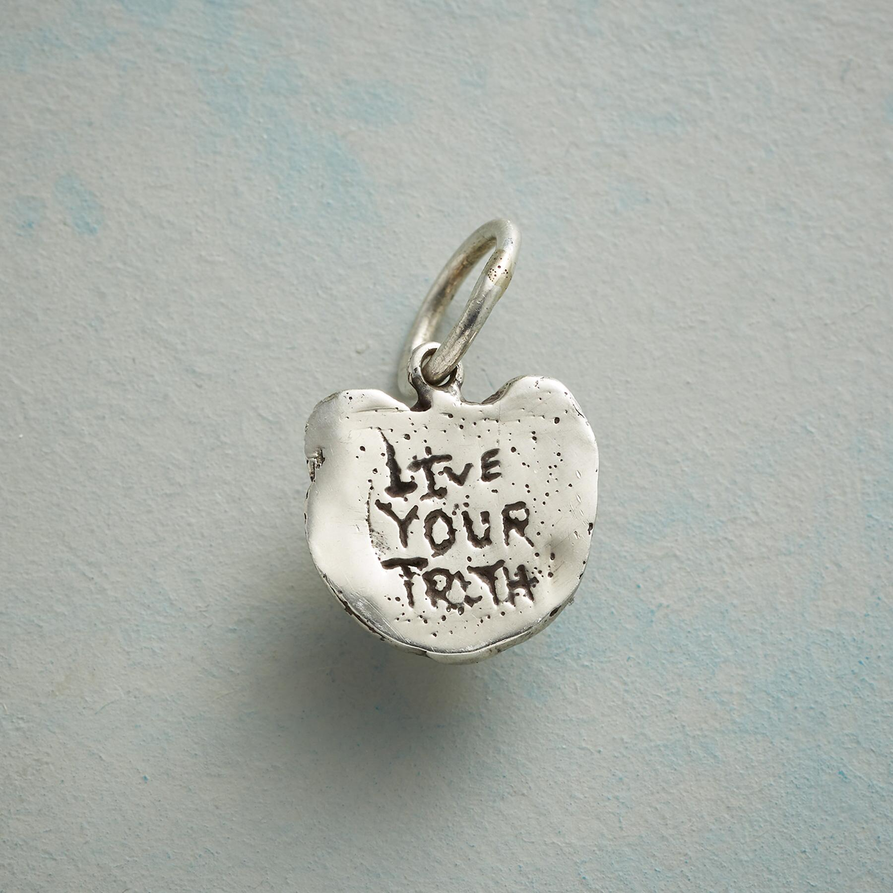 STERLING SILVER LIONESS TRUTH CHARM: View 2