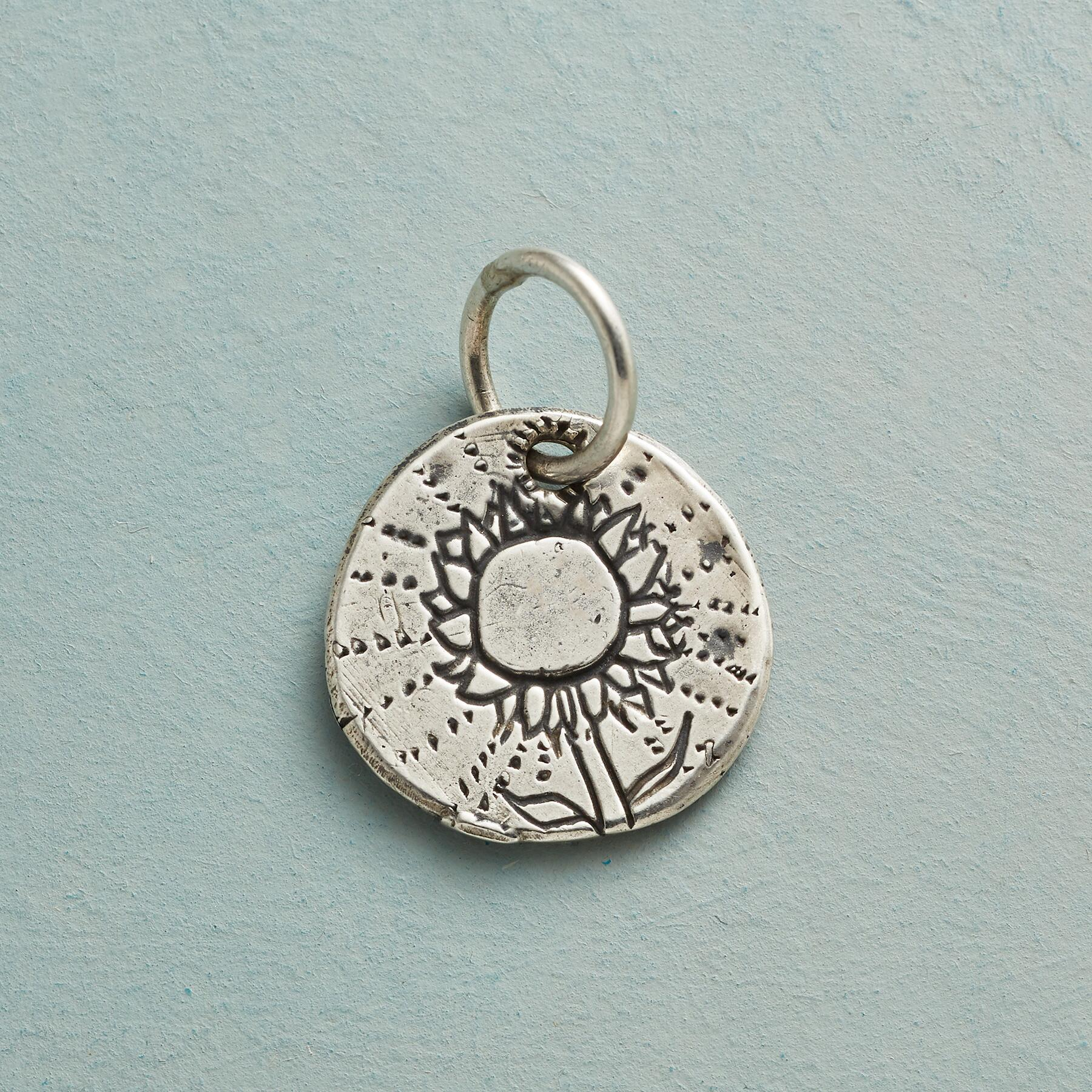 STERLING SILVER SUNFLOWER CHARM: View 1
