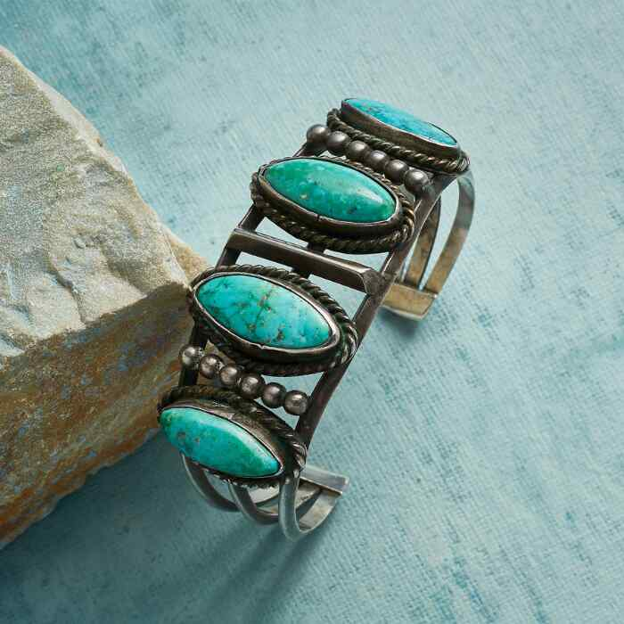1940S FOX MOUNTAIN TURQUOISE CUFF