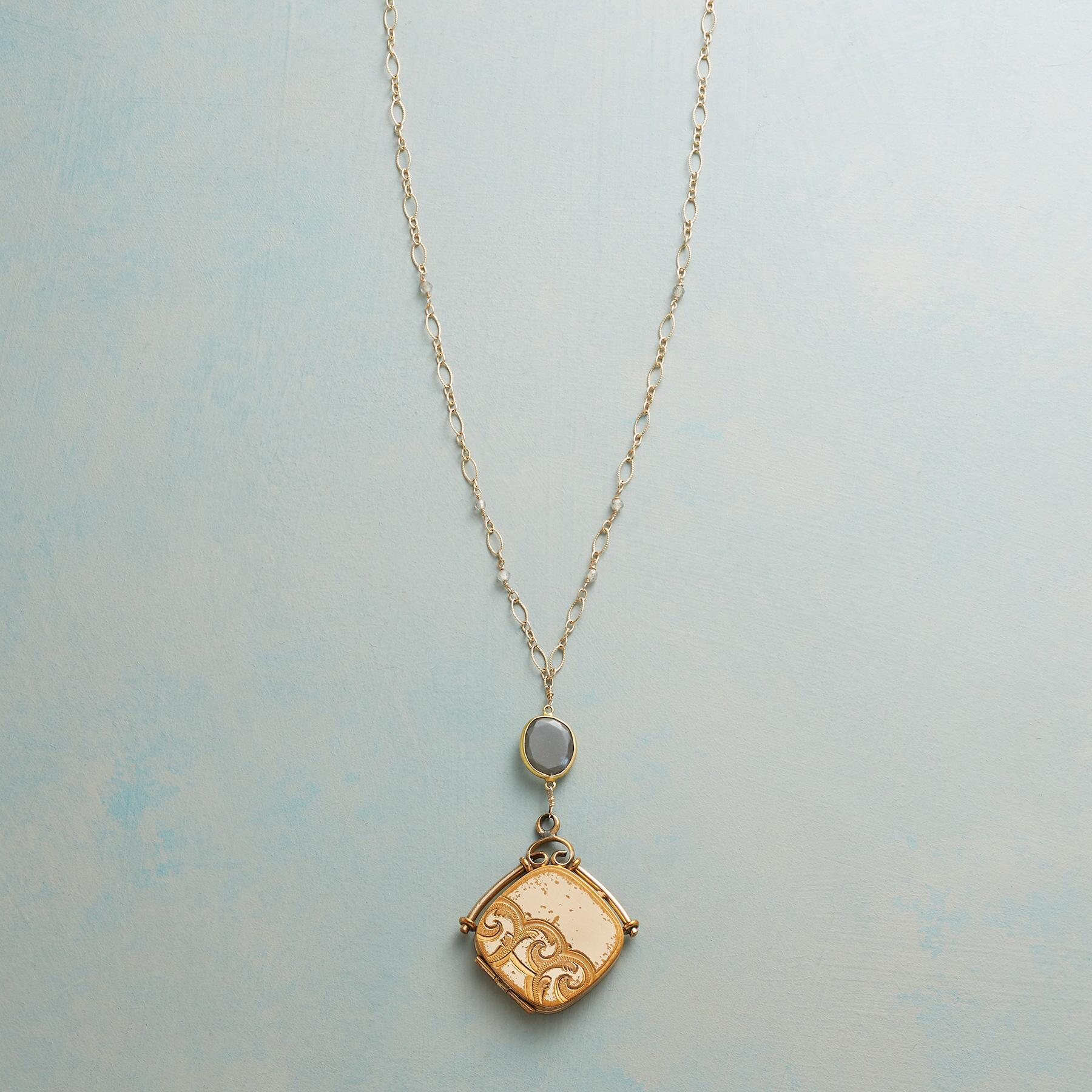 MAVIS HEIRLOOM LOCKET NECKLACE: View 1