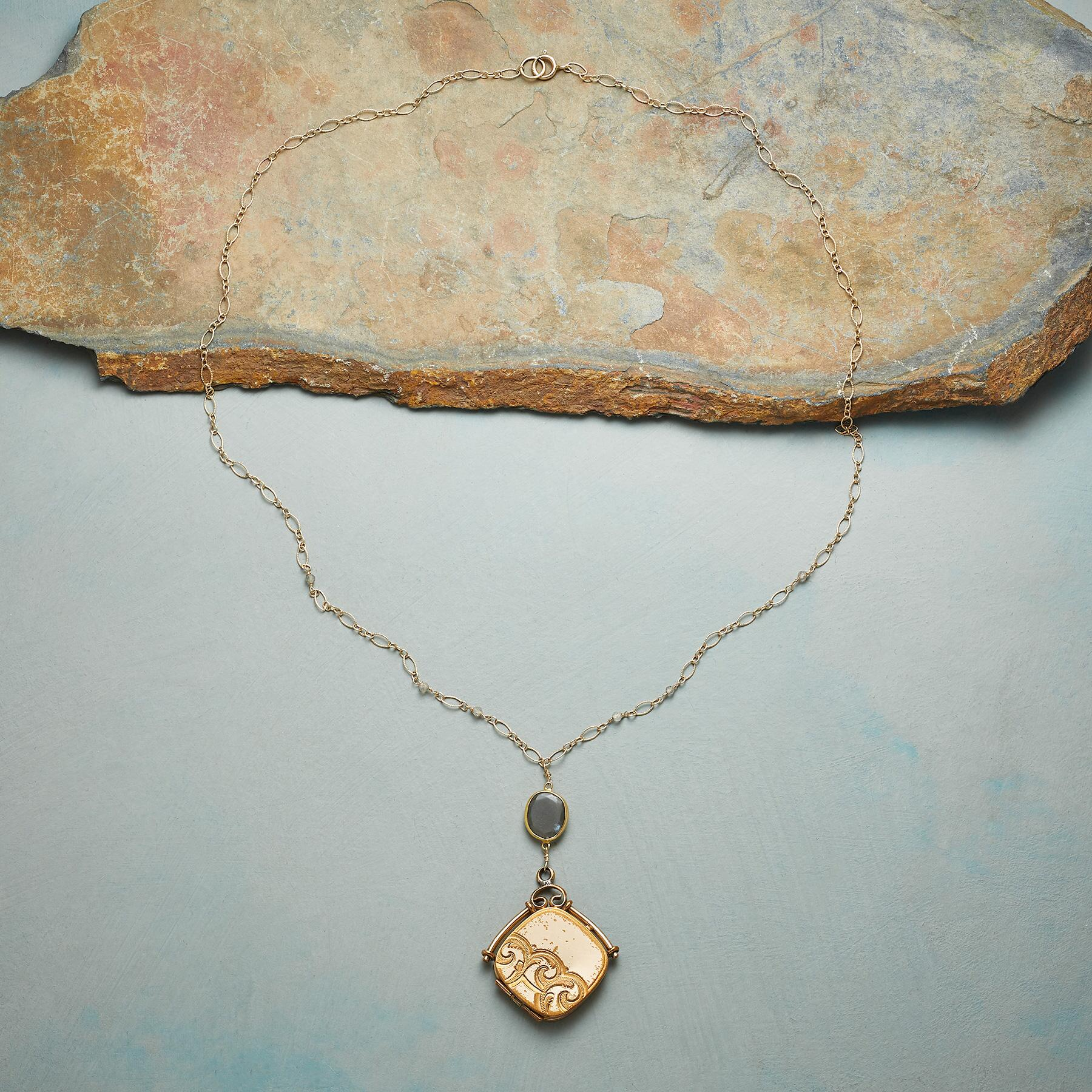 MAVIS HEIRLOOM LOCKET NECKLACE: View 2
