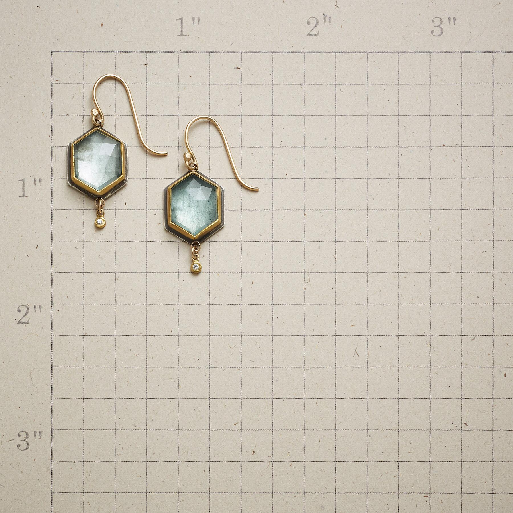 BEGUILING MOSS AQUAMARINE EARRINGS: View 2