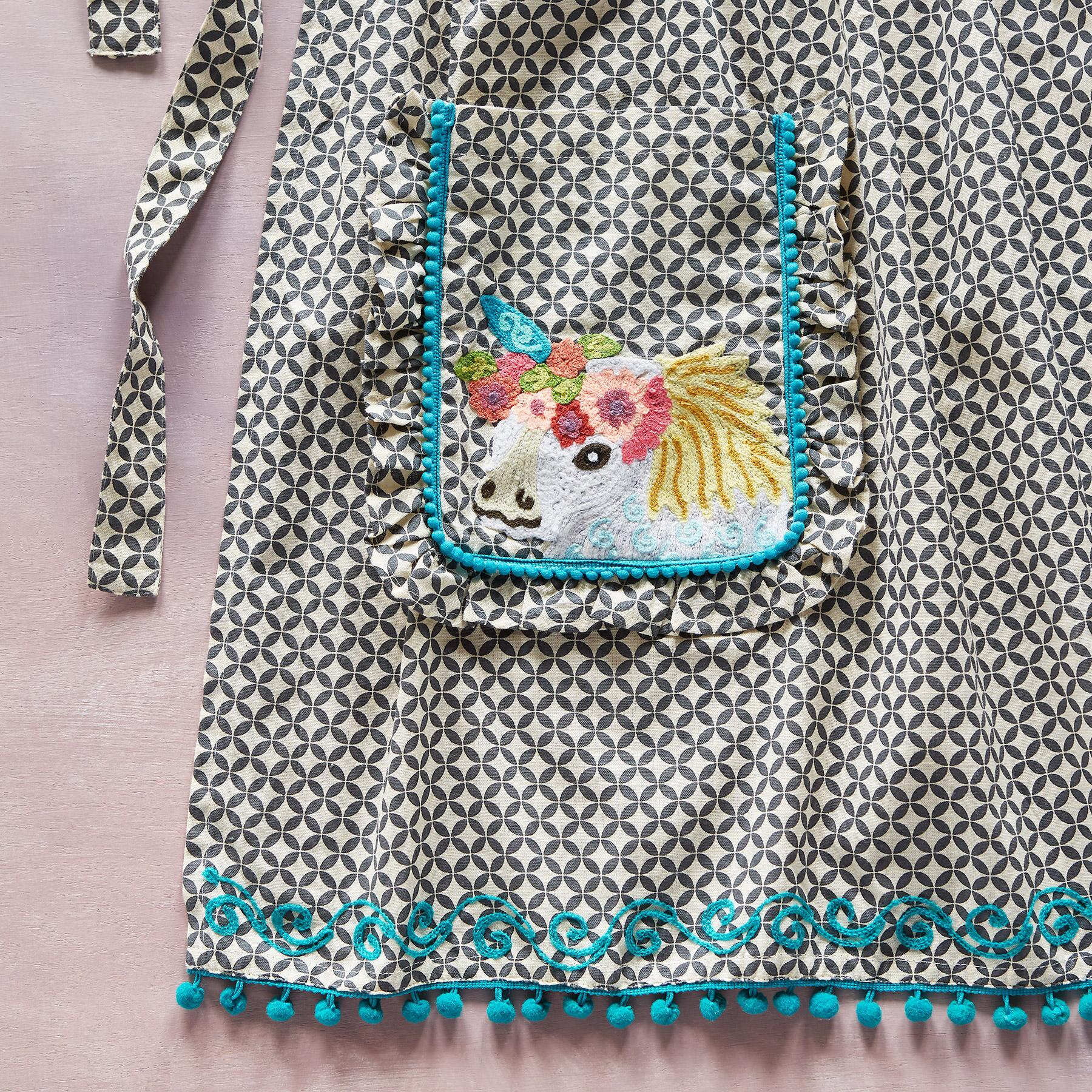 WHIMSY EMBROIDERED APRON: View 2