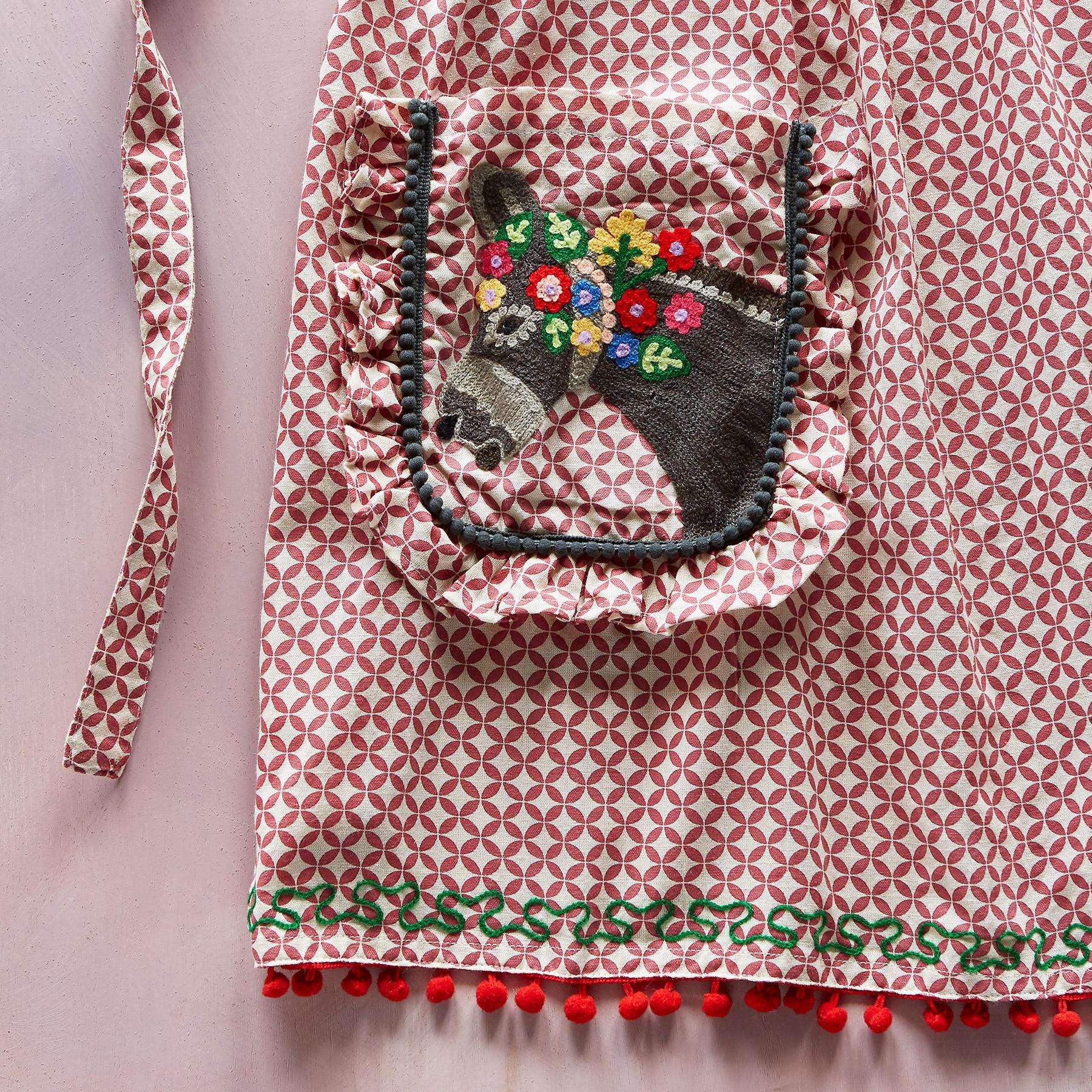 WHIMSY EMBROIDERED APRON: View 4