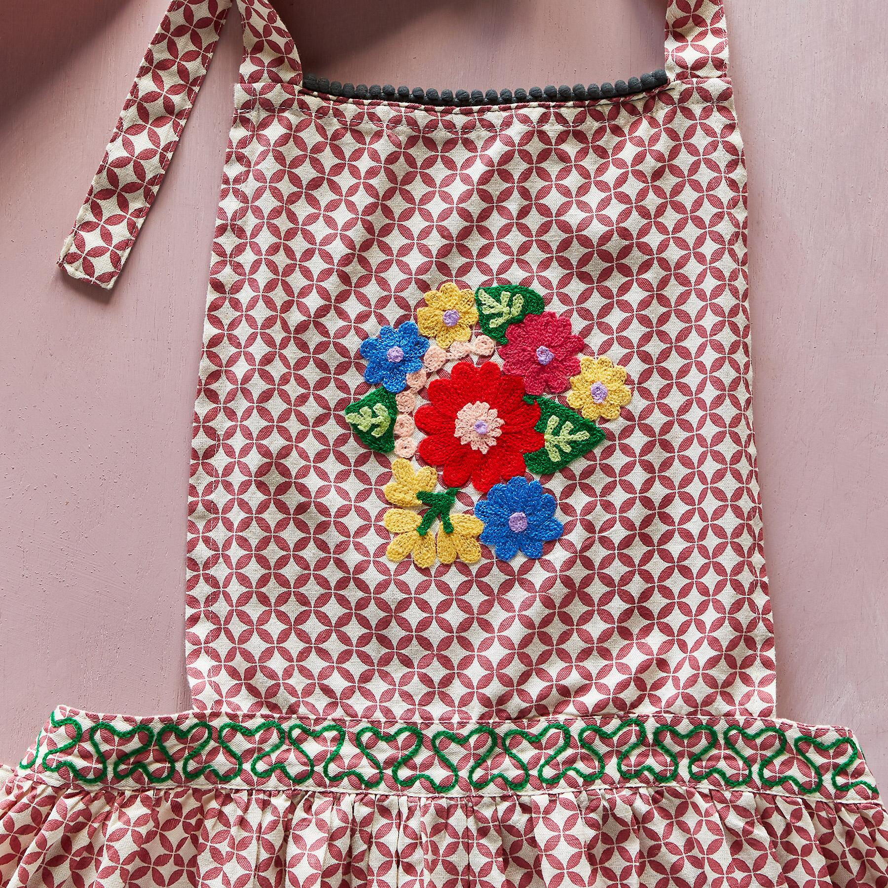 WHIMSY EMBROIDERED APRON: View 5