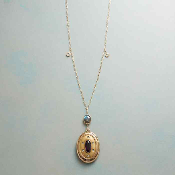 MABEL HEIRLOOM LOCKET NECKLACE