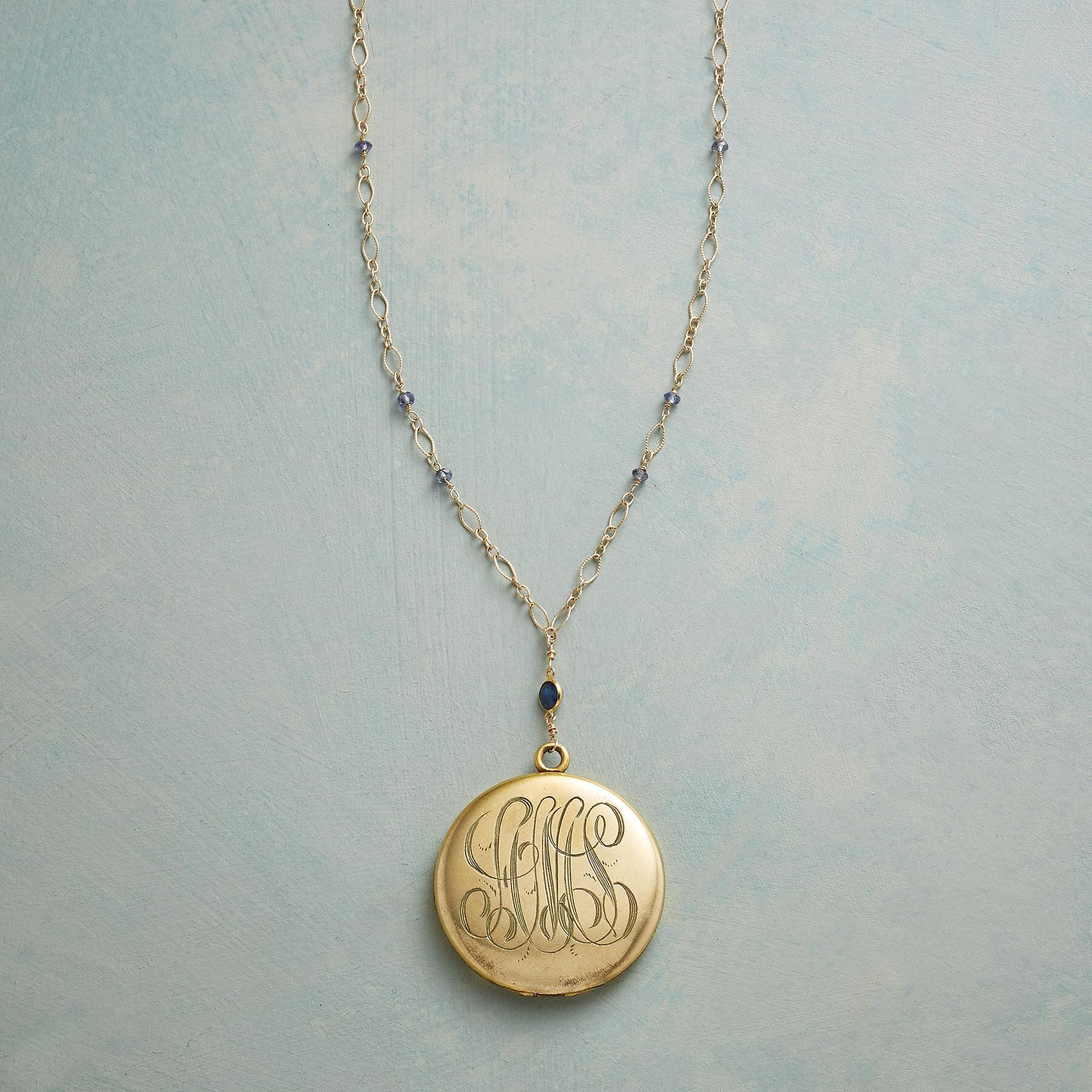 ISABELLE HEIRLOOM LOCKET NECKLACE: View 3