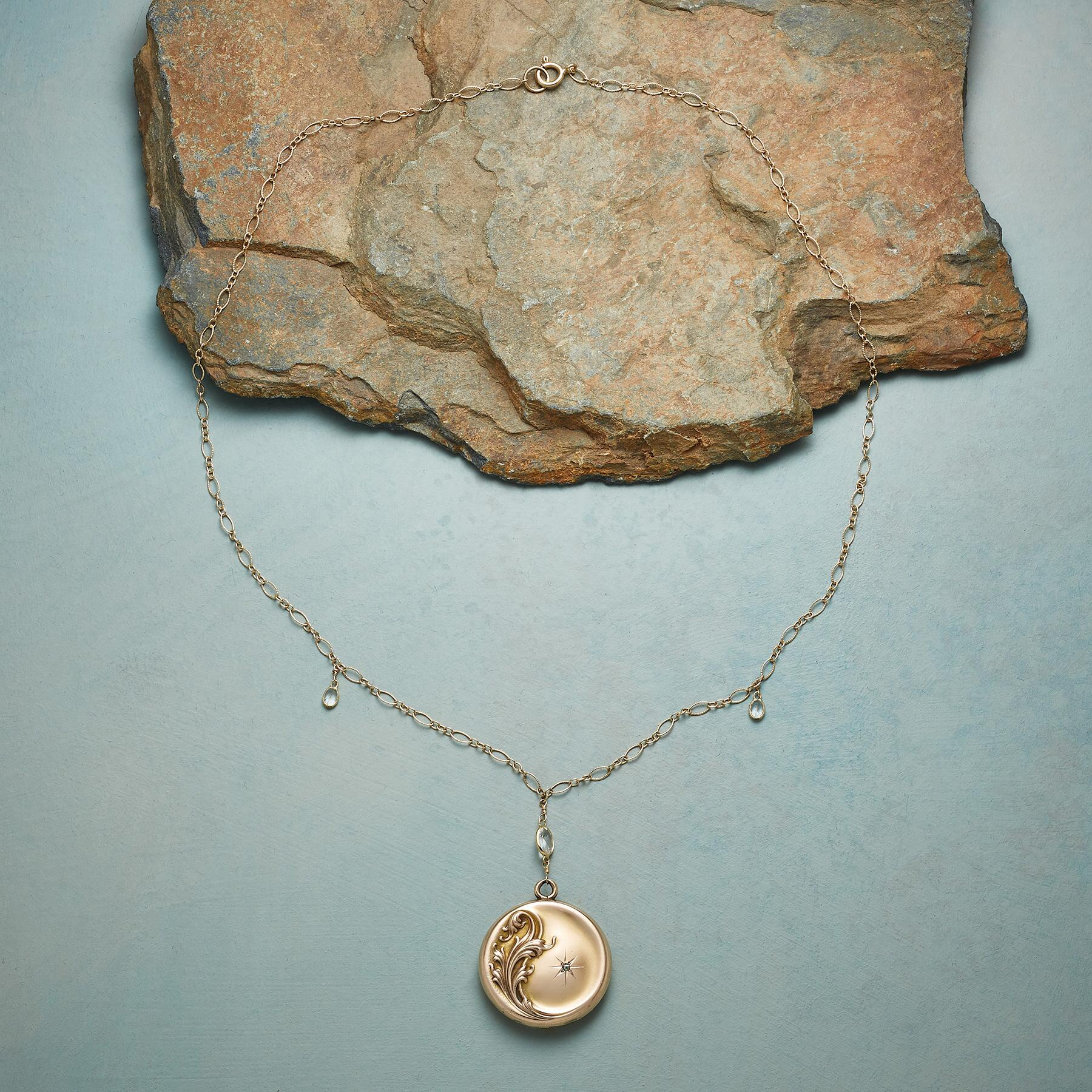 LETITIA HEIRLOOM LOCKET NECKLACE: View 2