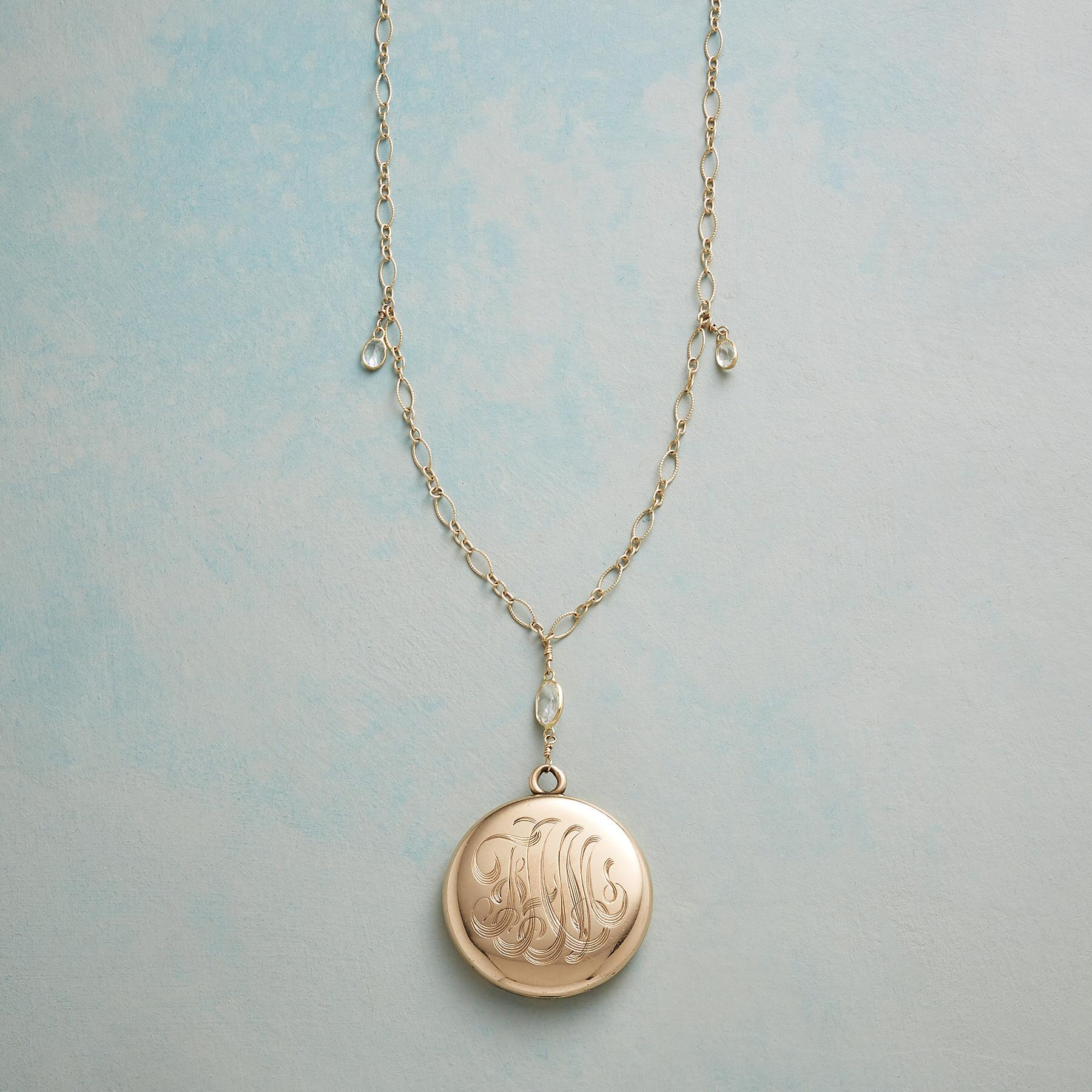 LETITIA HEIRLOOM LOCKET NECKLACE: View 3