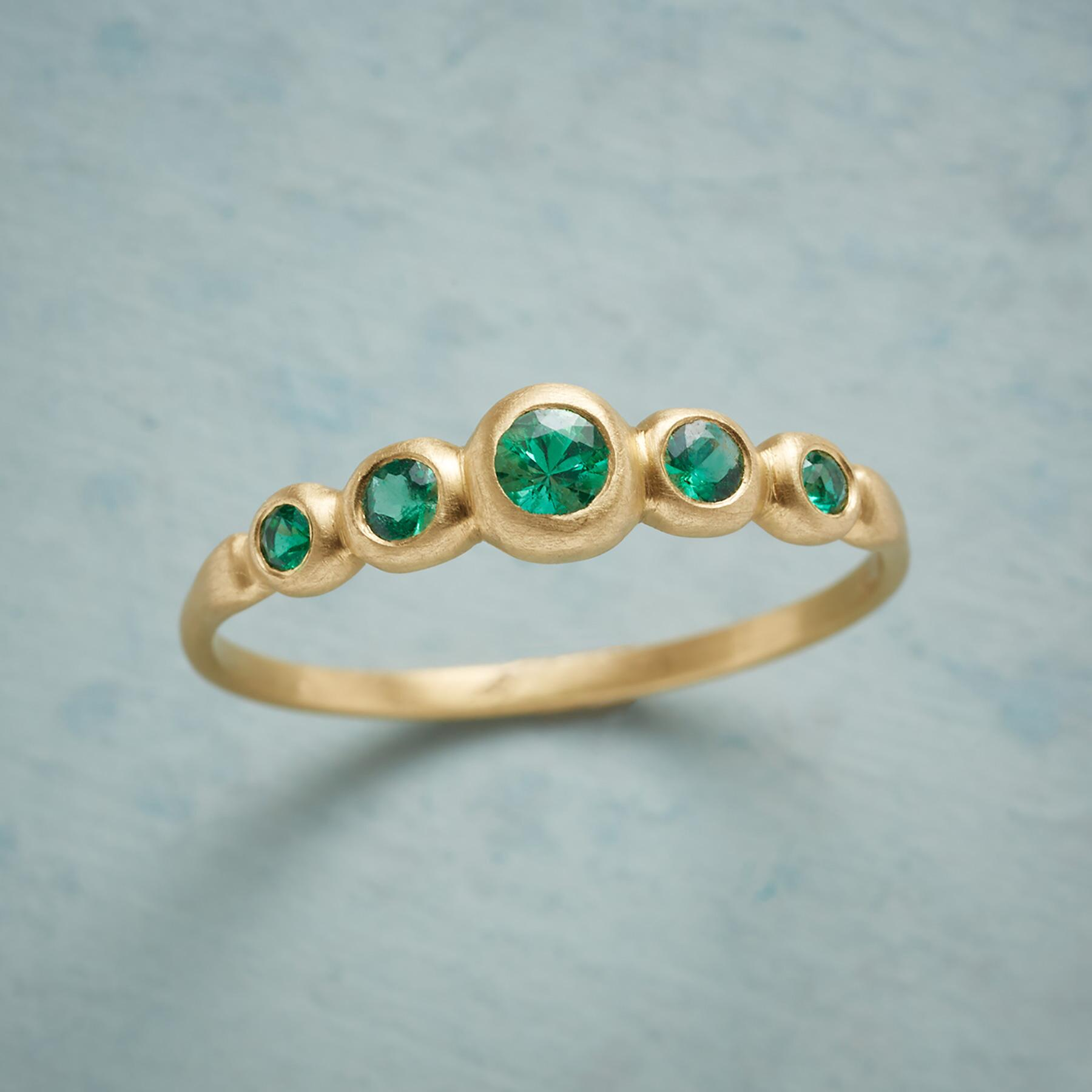 EMERALD QUINTET RING: View 1