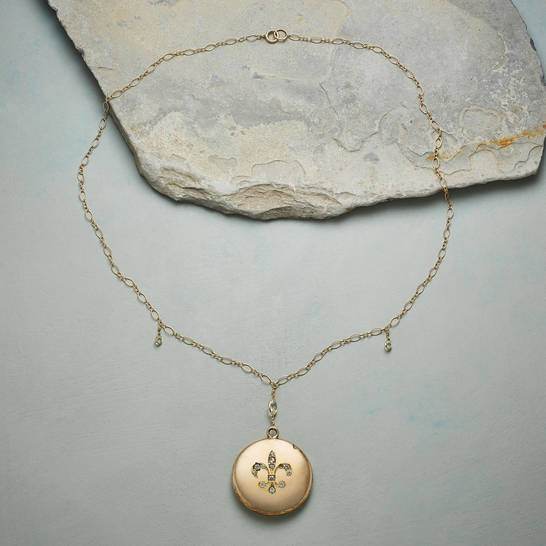 CLARA HEIRLOOM LOCKET NECKLACE: View 2