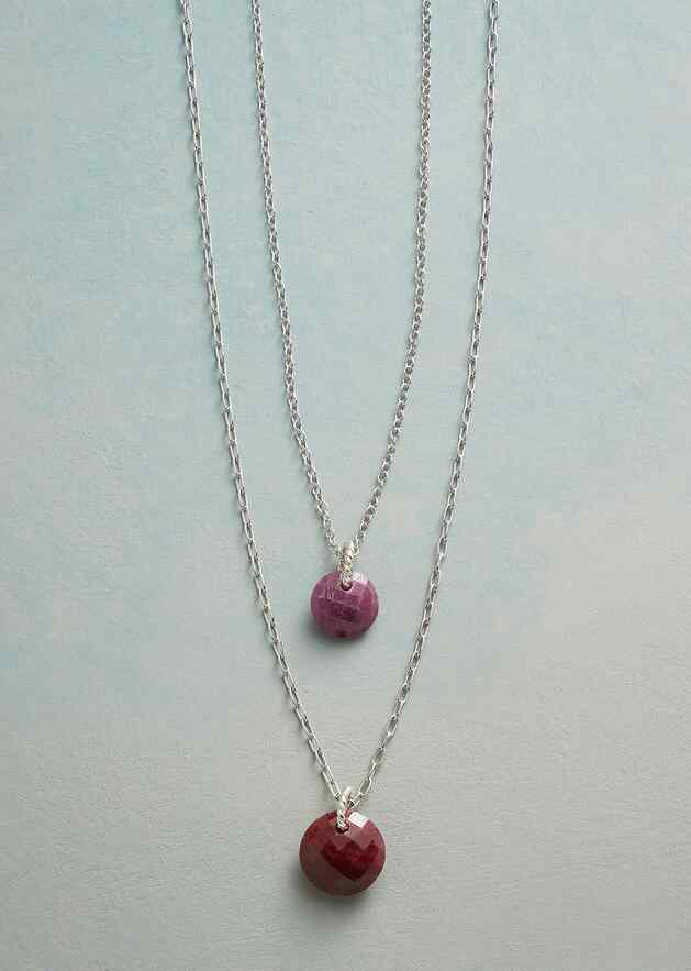DOUBLE LOVE BIRTHSTONE NECKLACE