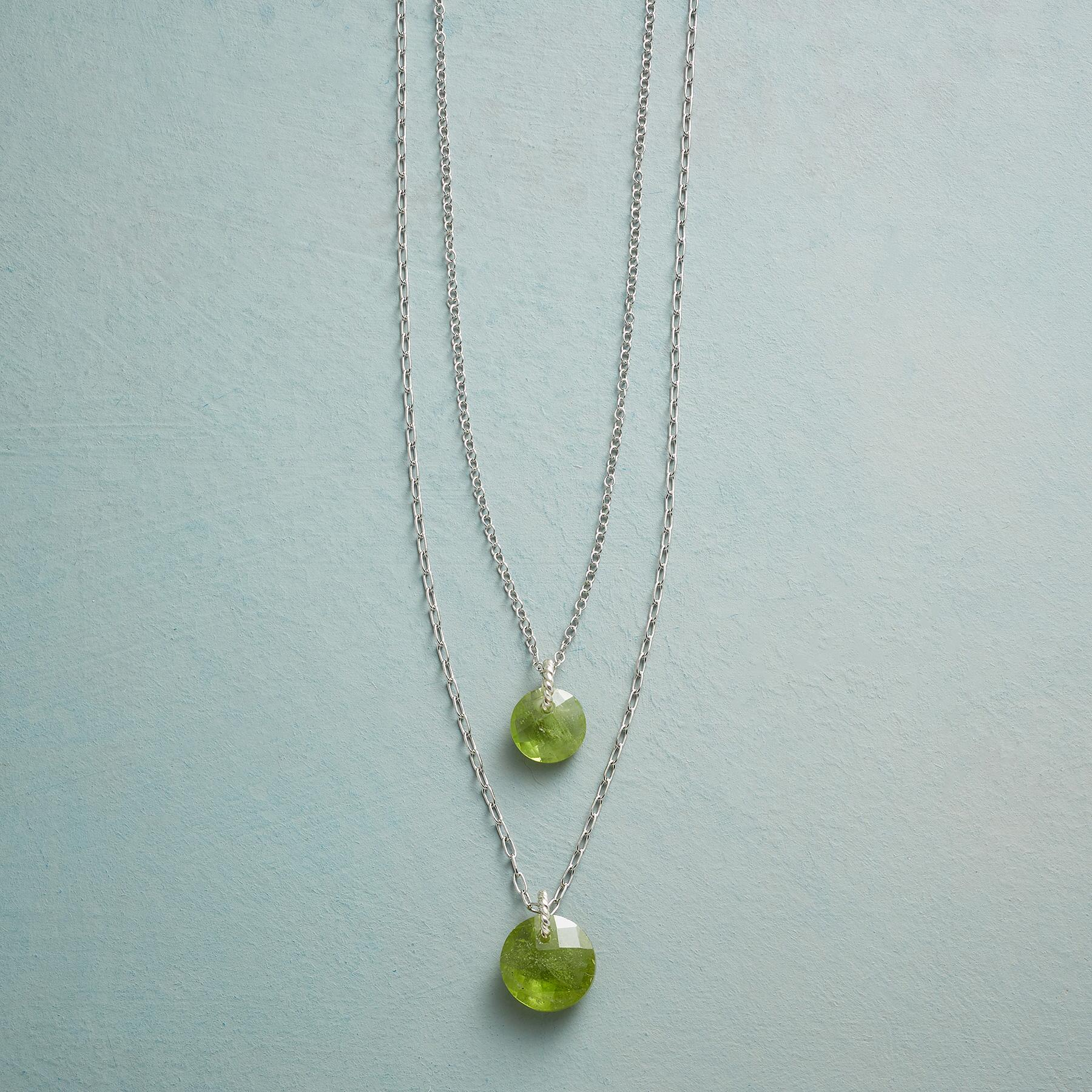 DOUBLE LOVE BIRTHSTONE NECKLACE: View 1