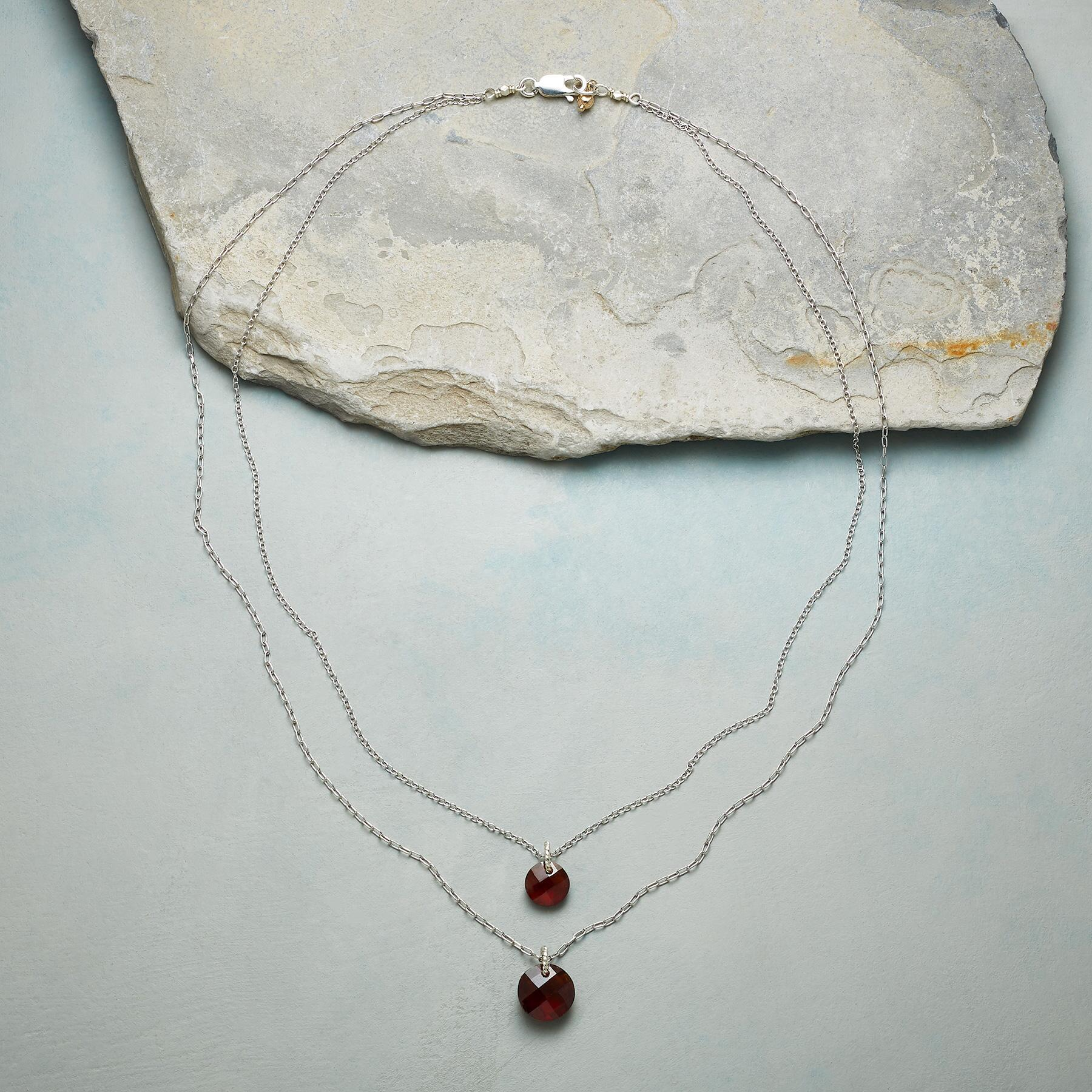 DOUBLE LOVE BIRTHSTONE NECKLACE: View 2