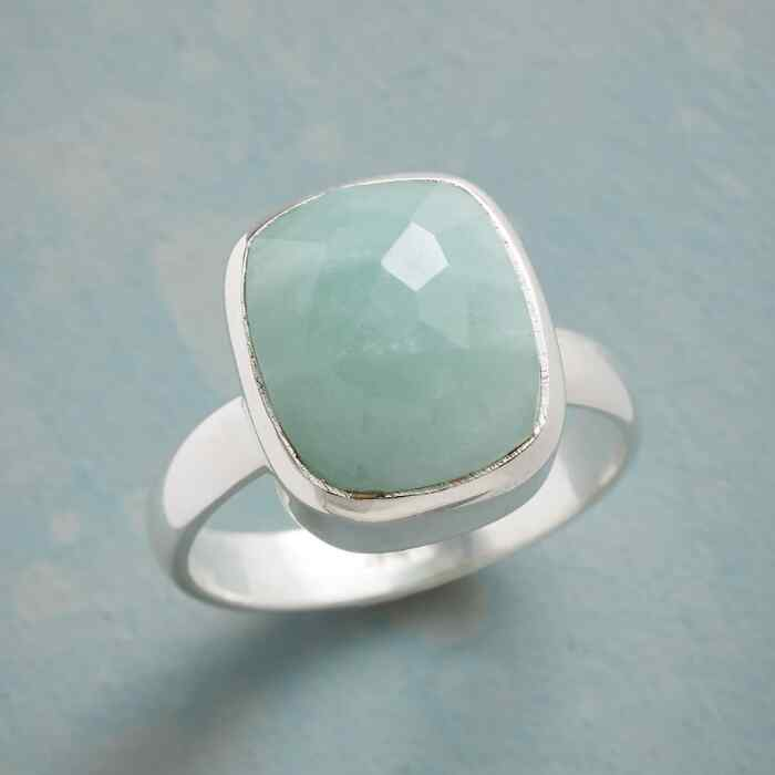 SOFT TOUCH AMAZONITE RING