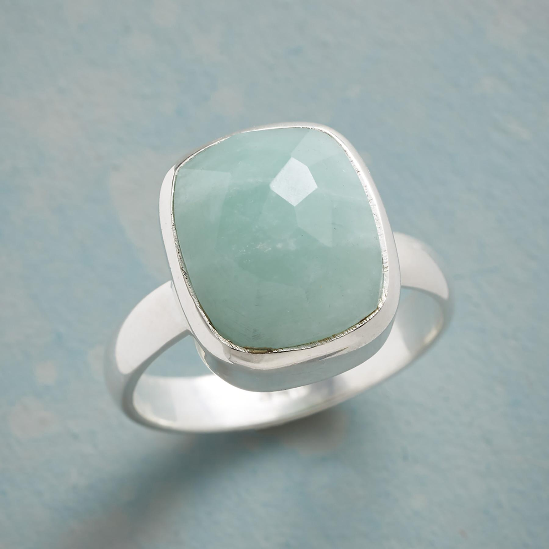 SOFT TOUCH AMAZONITE RING: View 1