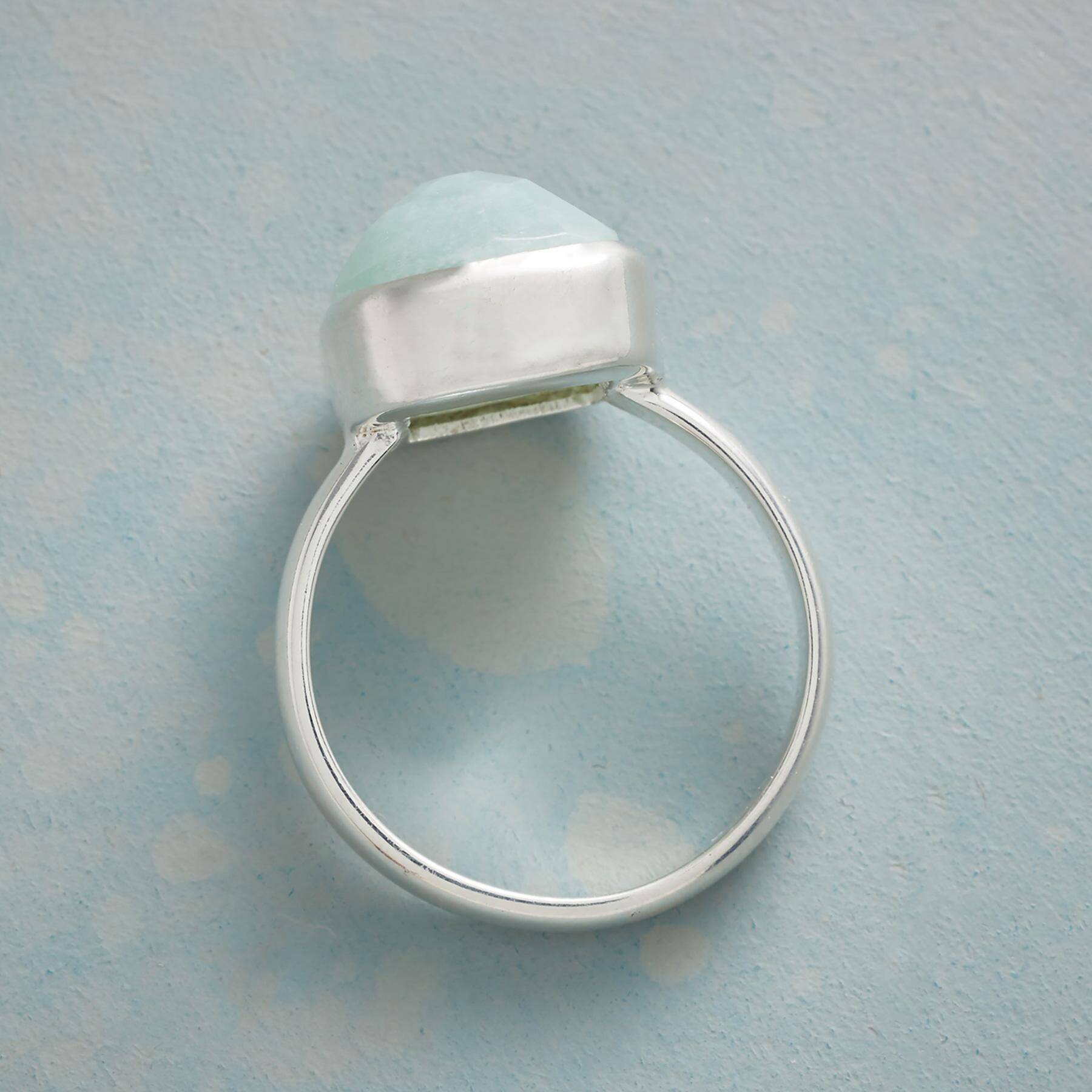 SOFT TOUCH AMAZONITE RING: View 2