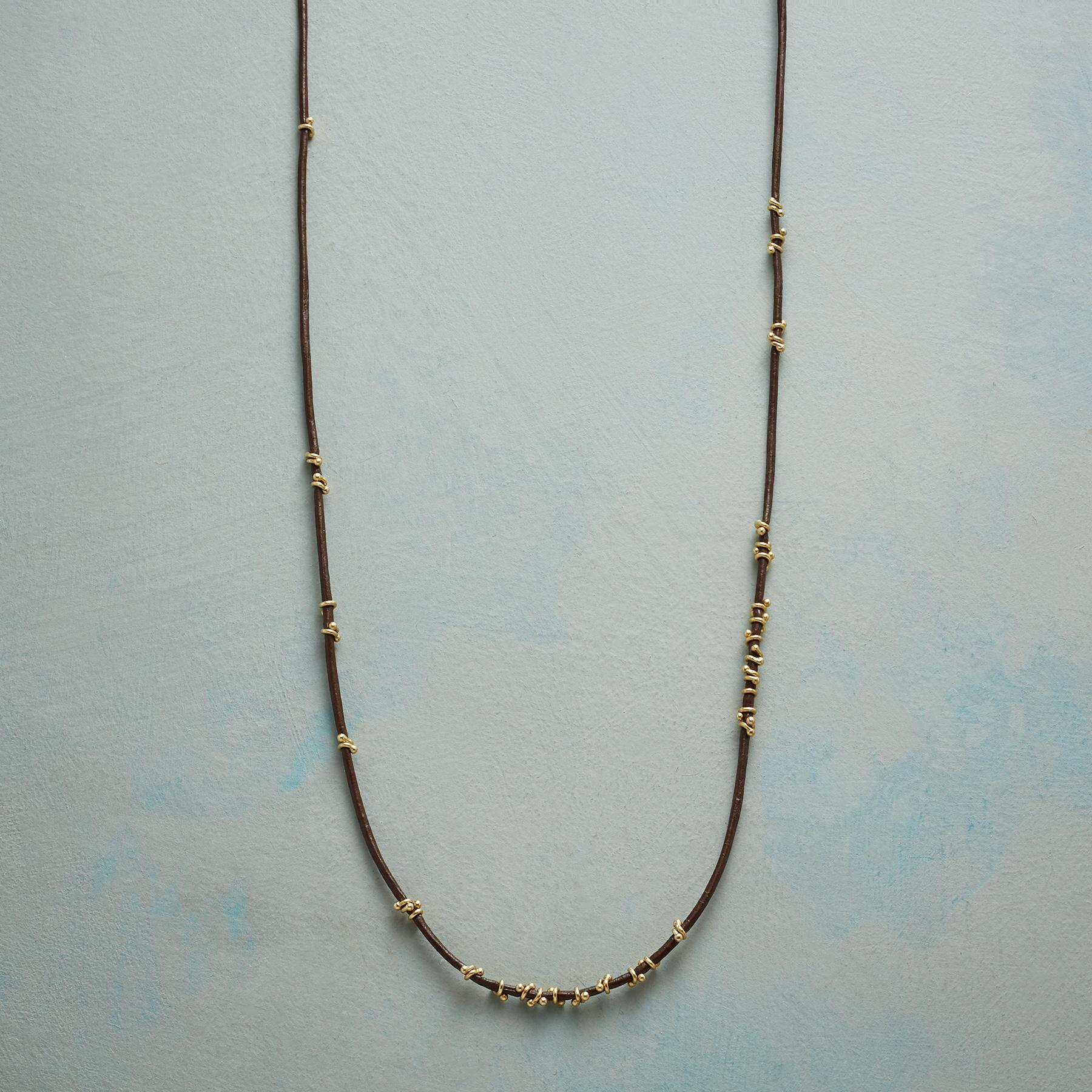 TWISTS OF GOLD NECKLACE: View 1
