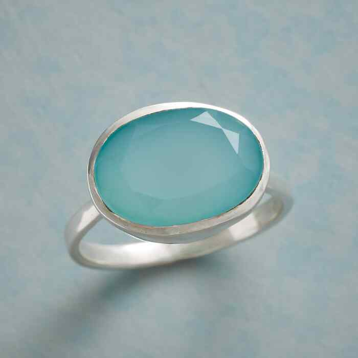 CLEARLAKE CHALCEDONY RING