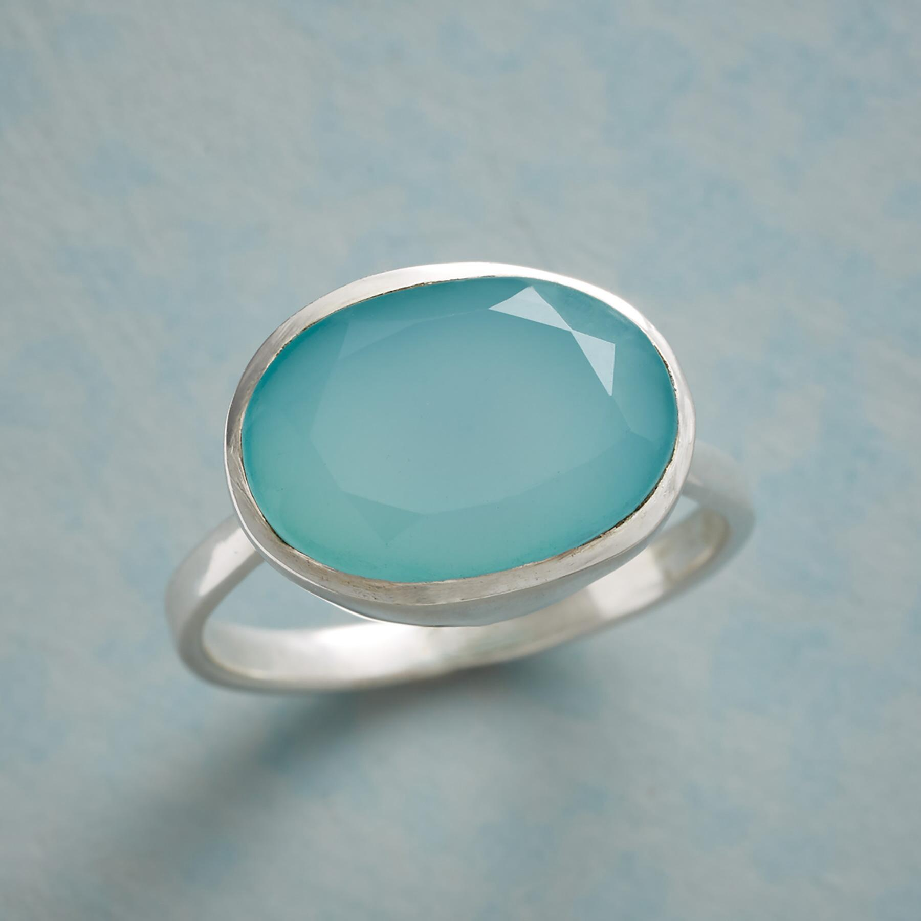 CLEARLAKE CHALCEDONY RING: View 1