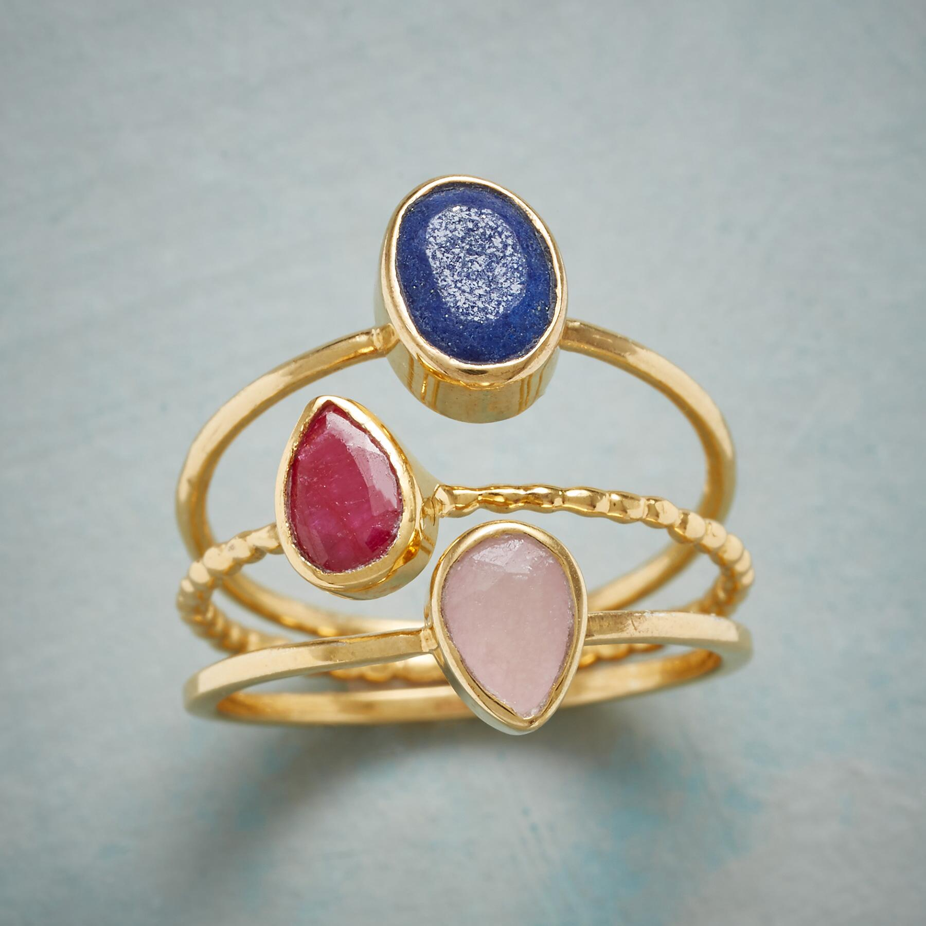 THREE OF A KINDNESS RING TRIO: View 1